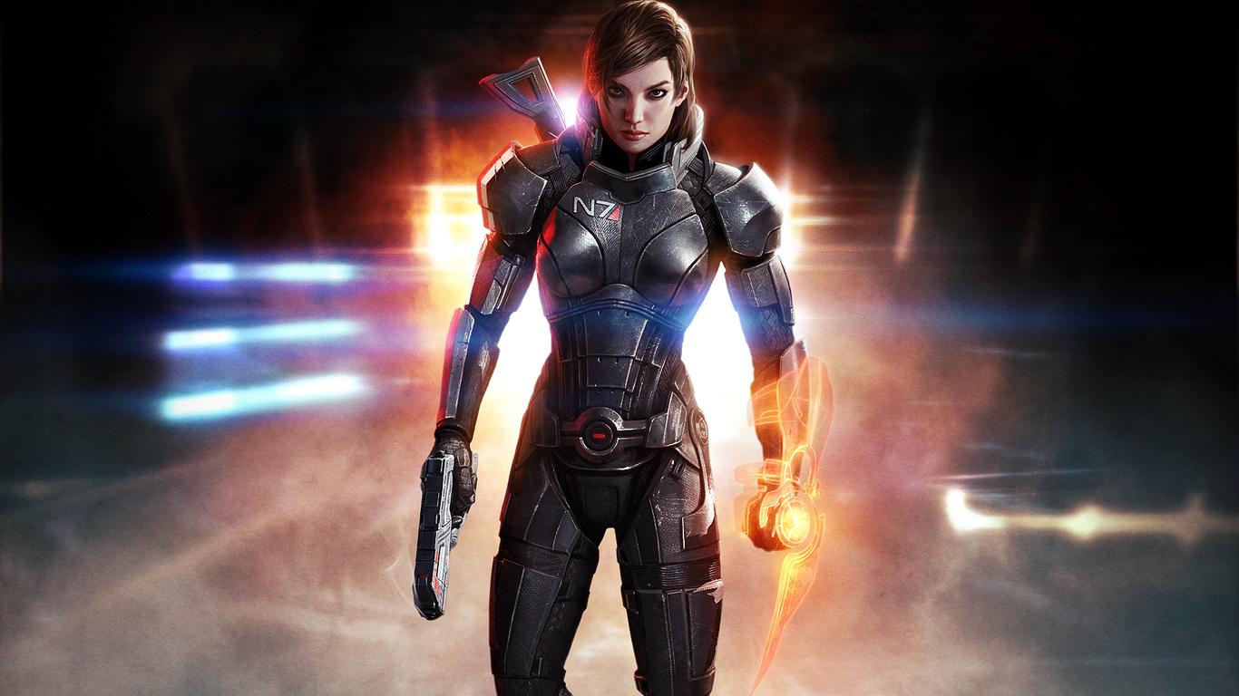 1366x768 Mass Effect 3 Shepard Femshep Hd 1366x768 Resolution Hd