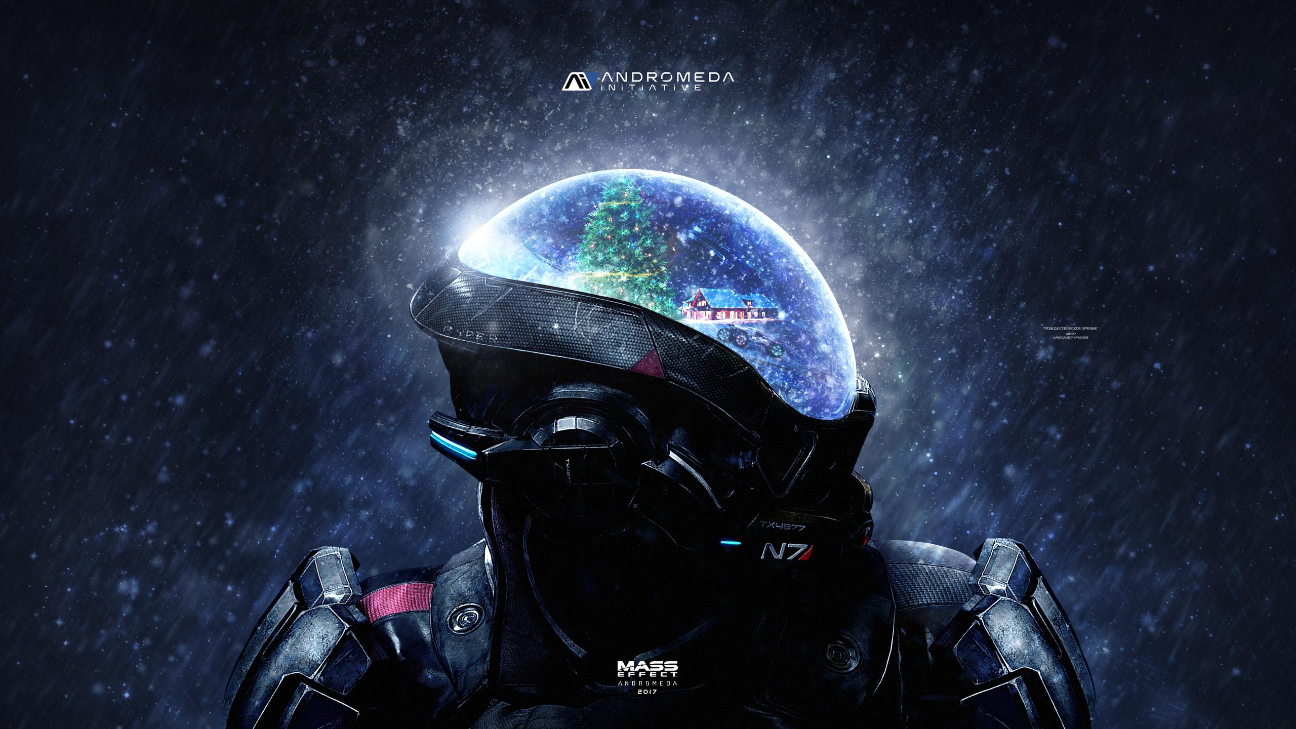 2560x1440 Mass Effect Andromeda Christmas 4k 1440p Resolution Hd