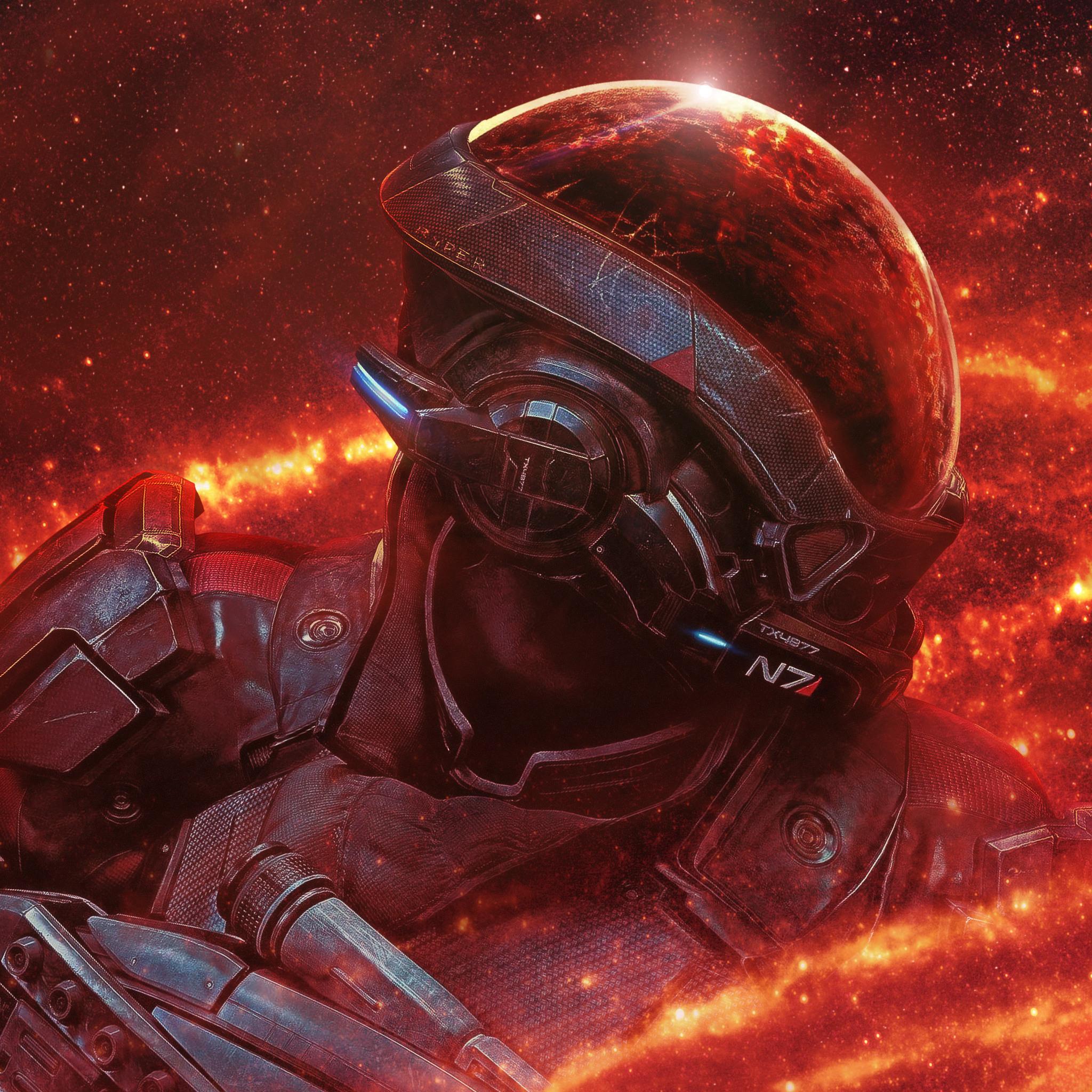 2048x2048 Mass Effect Andromeda RYDER N7 4k Ipad Air HD 4k ...