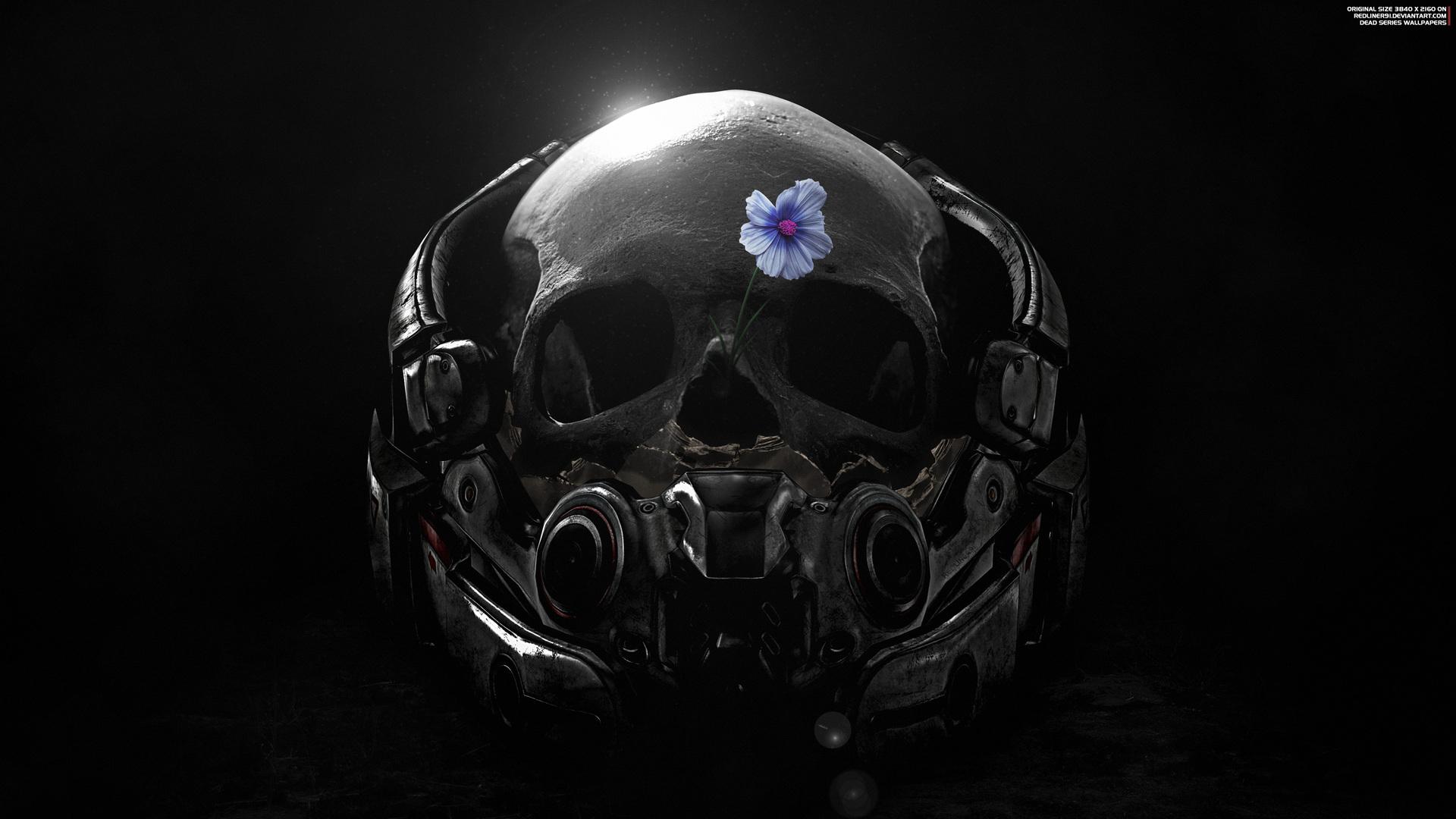 1920x1080 mass effect andromeda skull flower fanart 4k laptop full hd 1080p hd 4k wallpapers - Mass effect andromeda 1920x1080 ...