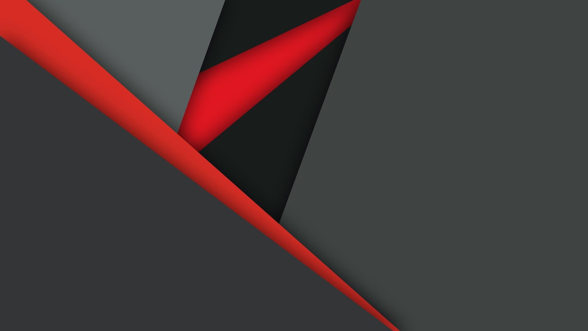 Download Red Black Ferrari 2048 X 2048 Wallpapers: 2048x1152 Material Design Dark Red Black 2048x1152