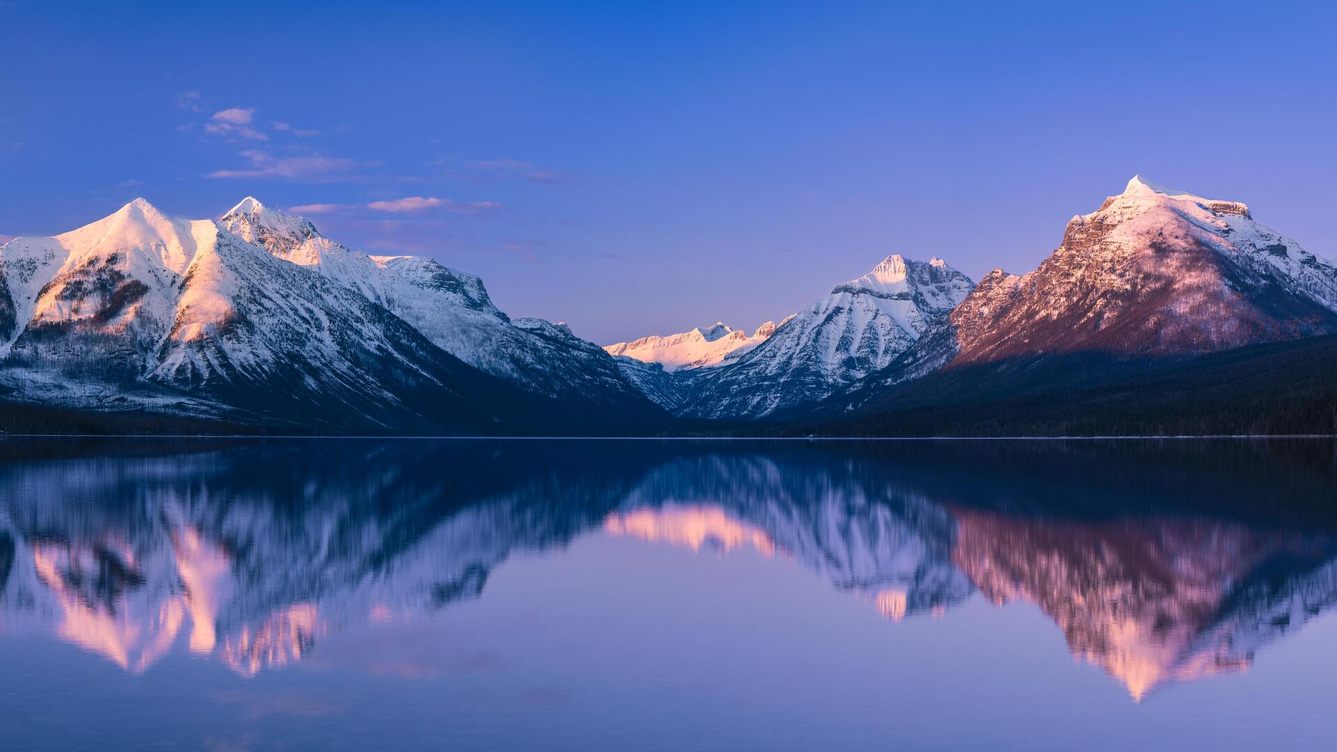 1920x1080 Mcdonald Lake Glacier National Park 5k Laptop Full Hd