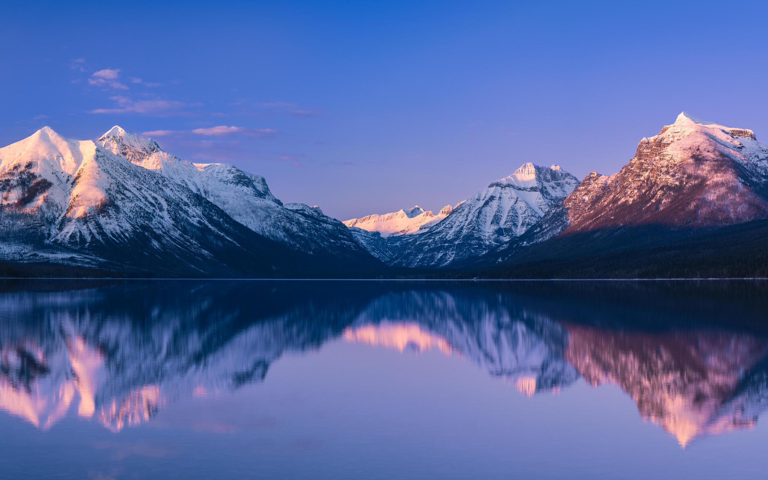 2560x1600 Mcdonald Lake Glacier National Park 5k 2560x1600