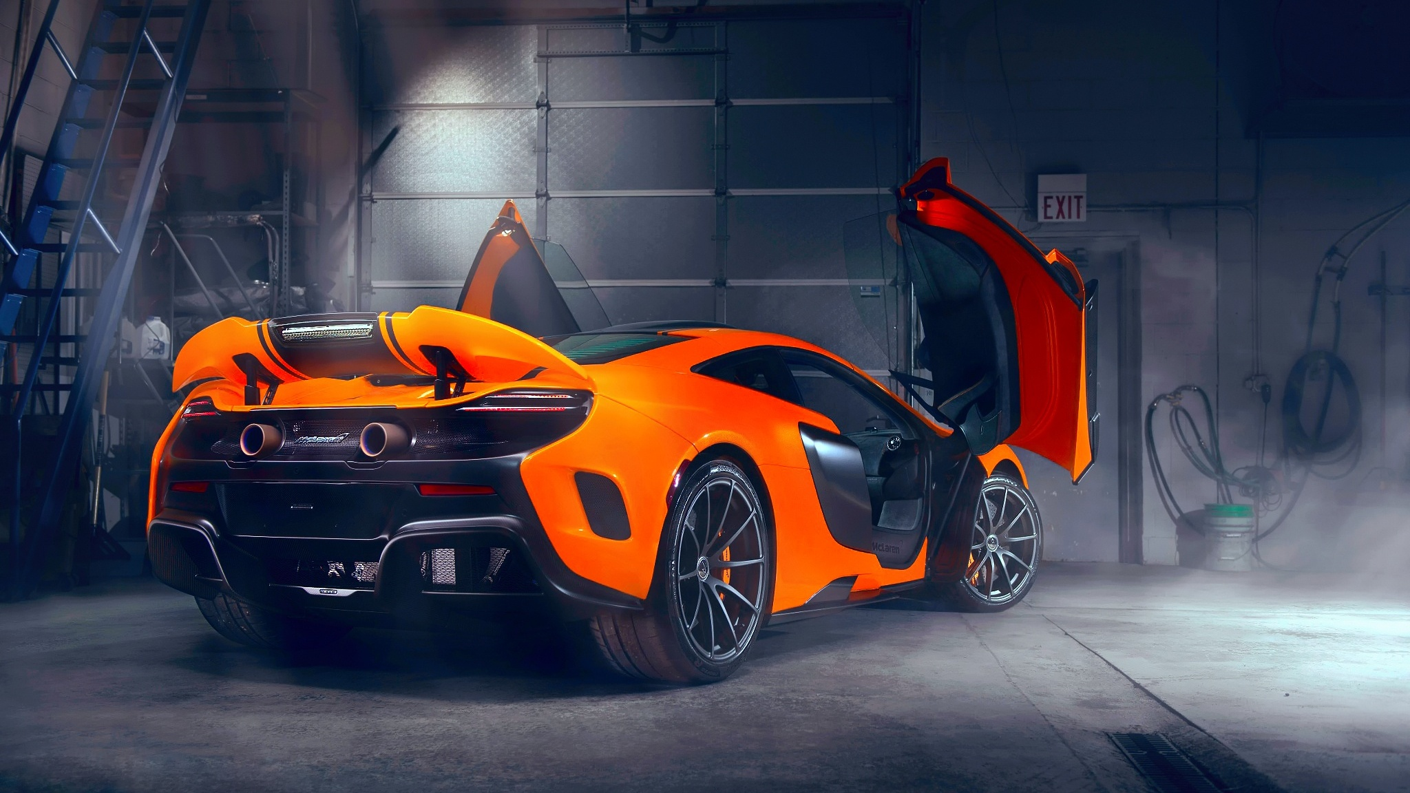 mclaren-doors-up-modified-exhausts-ap.jpg & 2048x1152 Mclaren Doors Up Modified Exhausts 2048x1152 Resolution HD ...