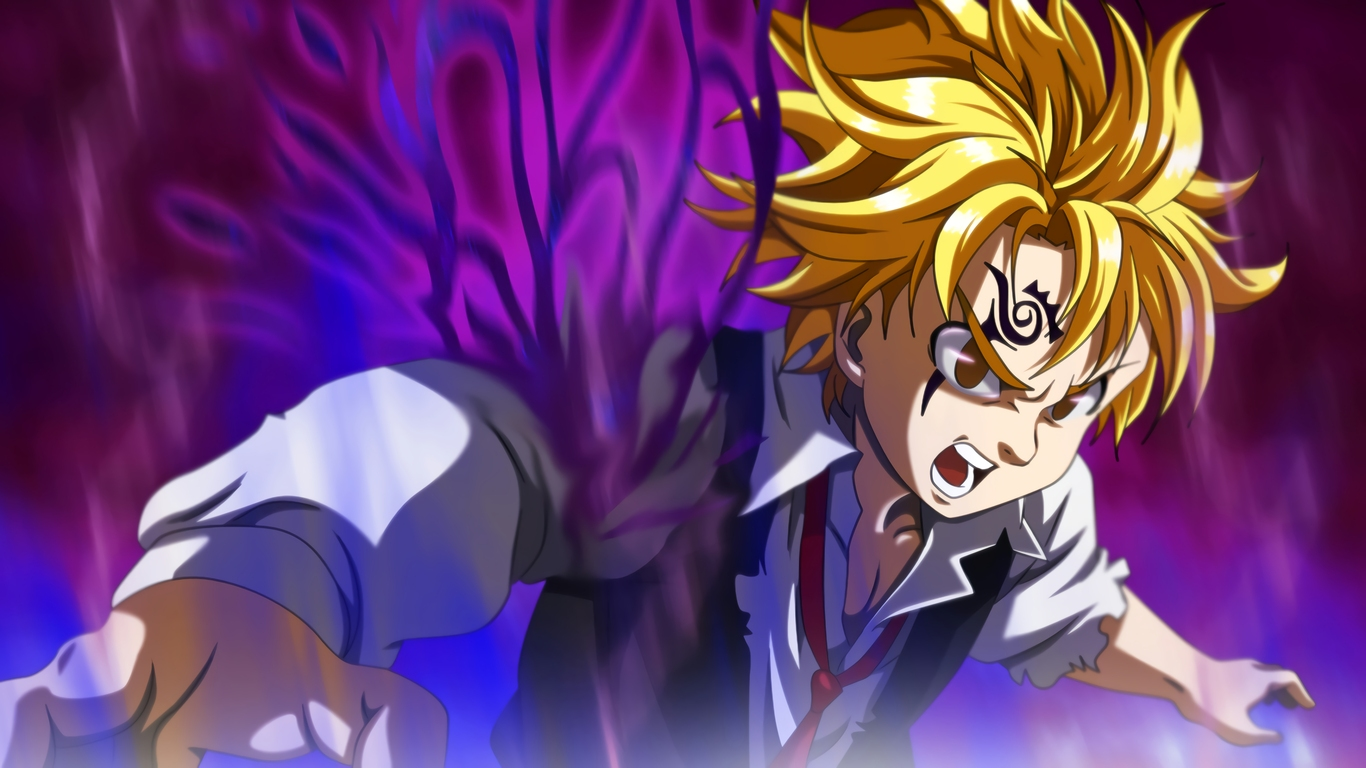 Wallpaper Meliodas Demon Mode: 1366x768 Meliodas The Seven Deadly Sins 4k 1366x768