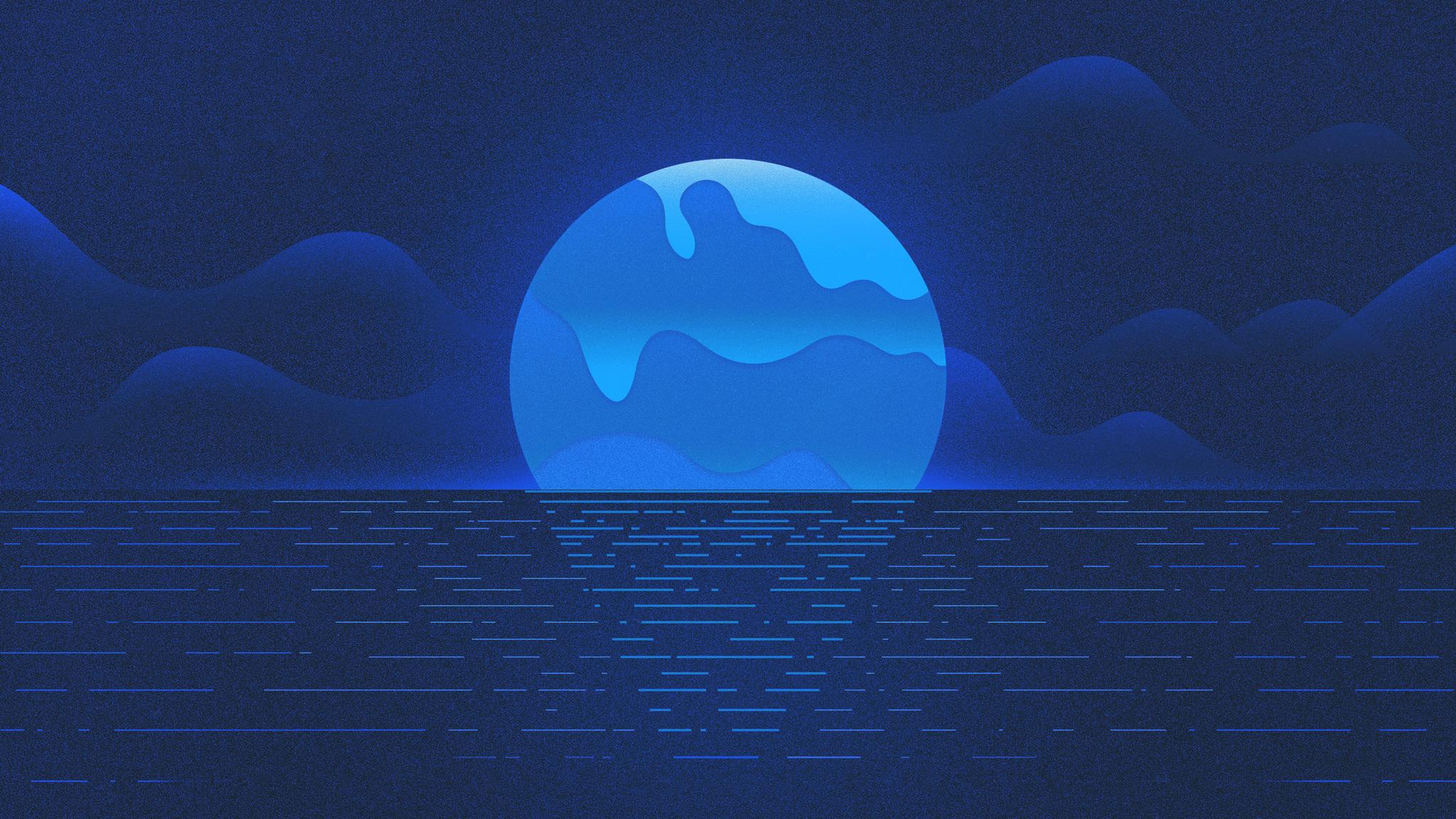 2048x1152 melting july blue cool ocean sunet 2048x1152 resolution hd