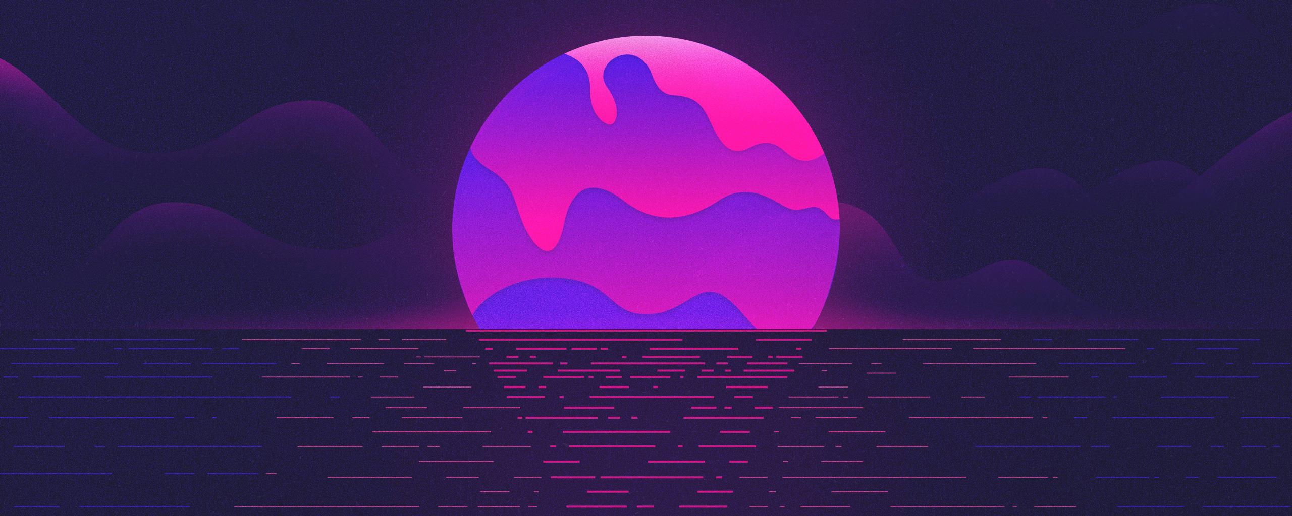 2560x1024 Melting July Sea Ocean Sunset