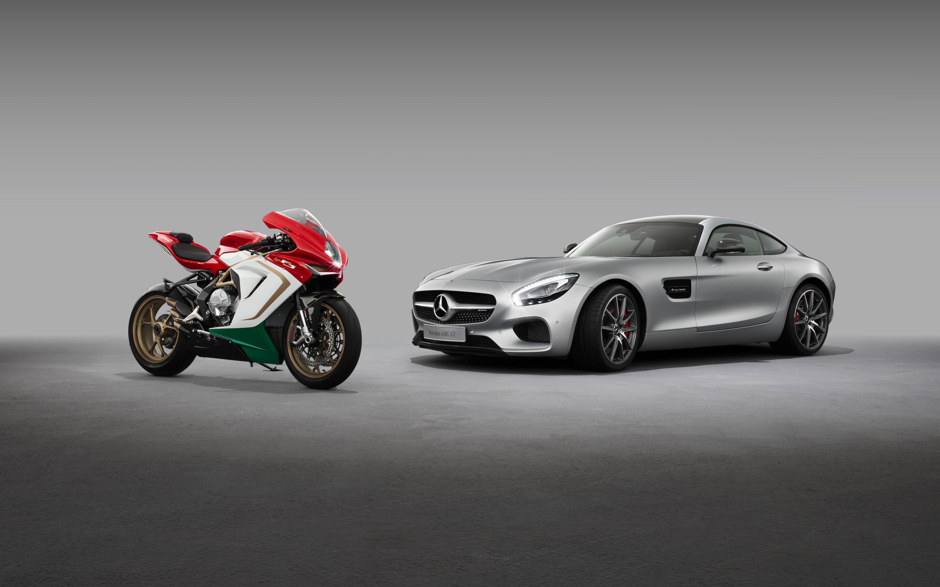 3840x2400 Mercedes AMG GT MV Agusta F3 Agostini 8k 4k HD