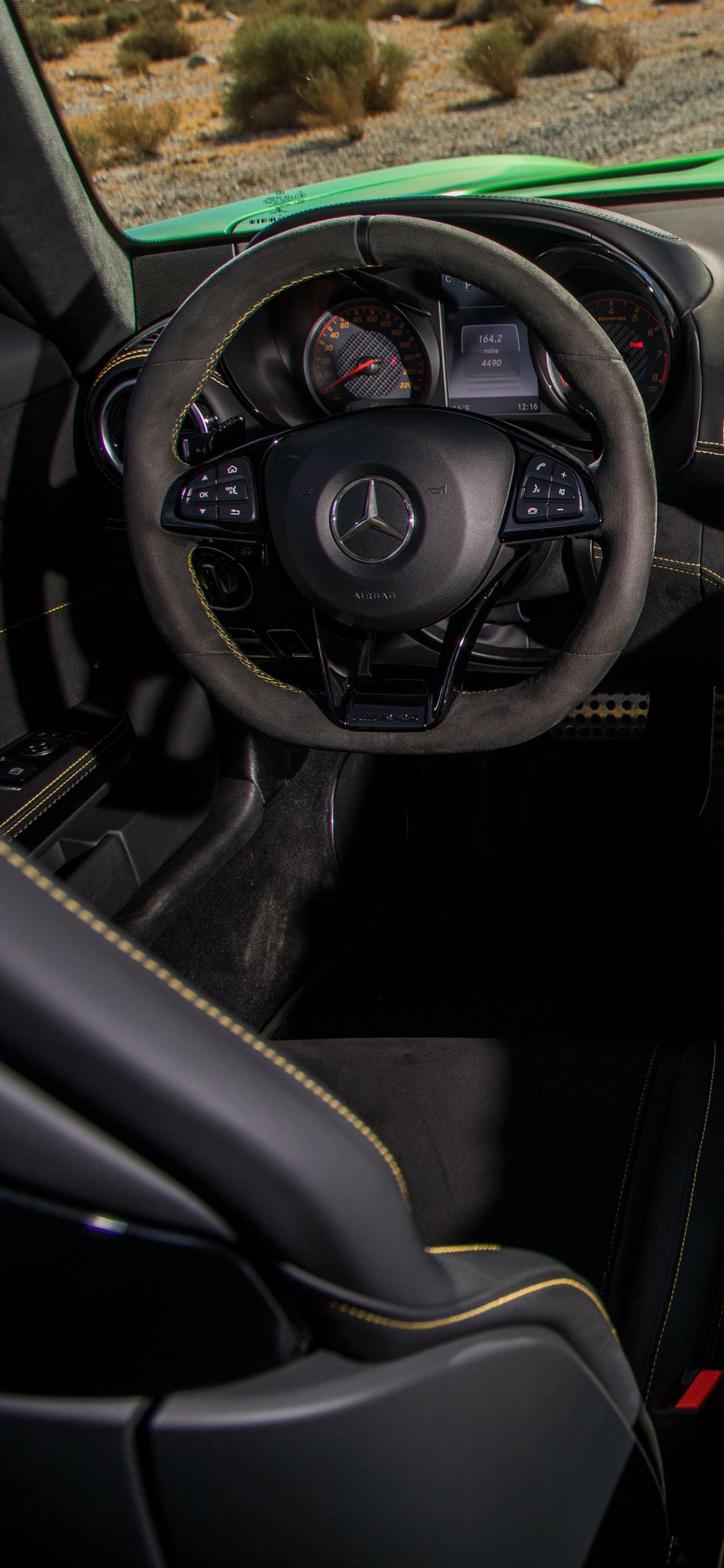 1125x2436 Mercedes Amg Gtr Interior Iphone Xs Iphone 10
