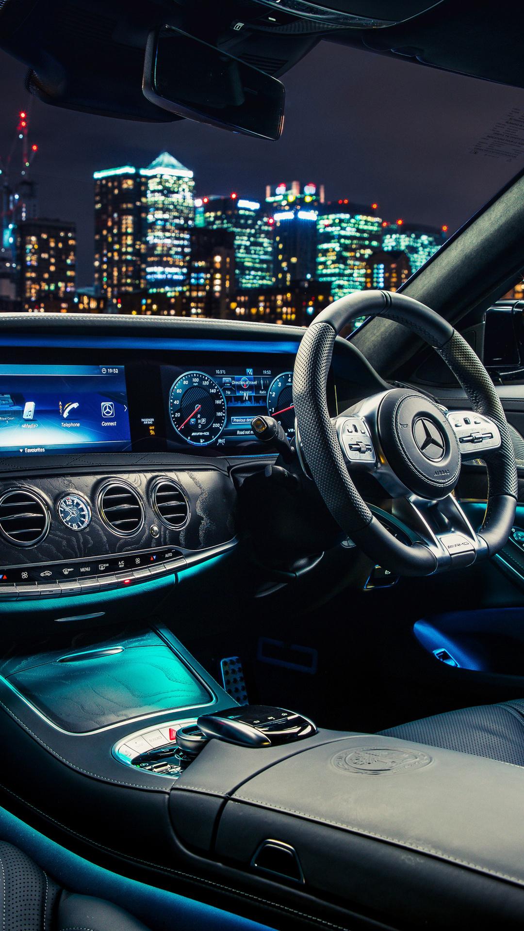 1080x1920 Mercedes AMG S 63 4MATIC Interior Iphone 7,6s,6 ...