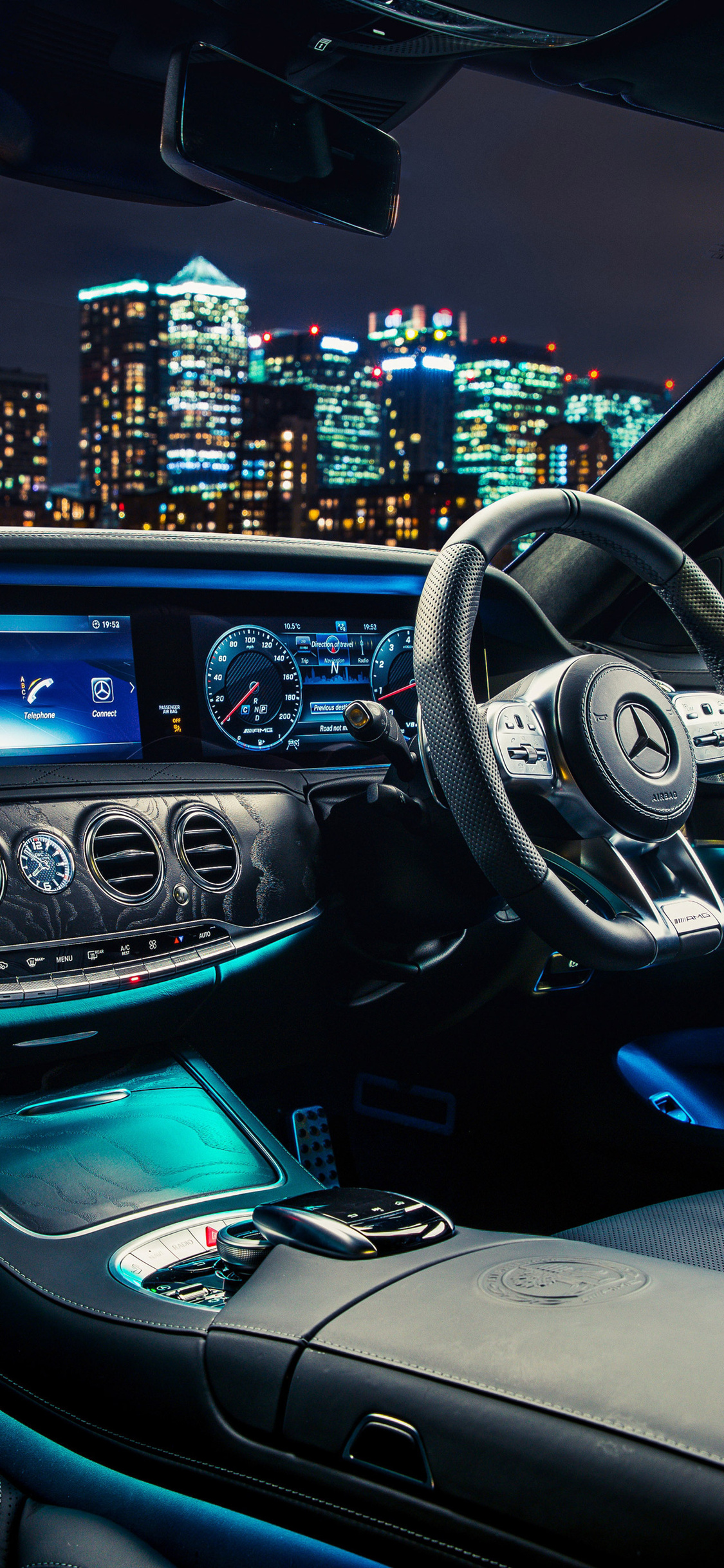 1125x2436 Mercedes Amg S 63 4matic Interior Iphone Xs Iphone 10
