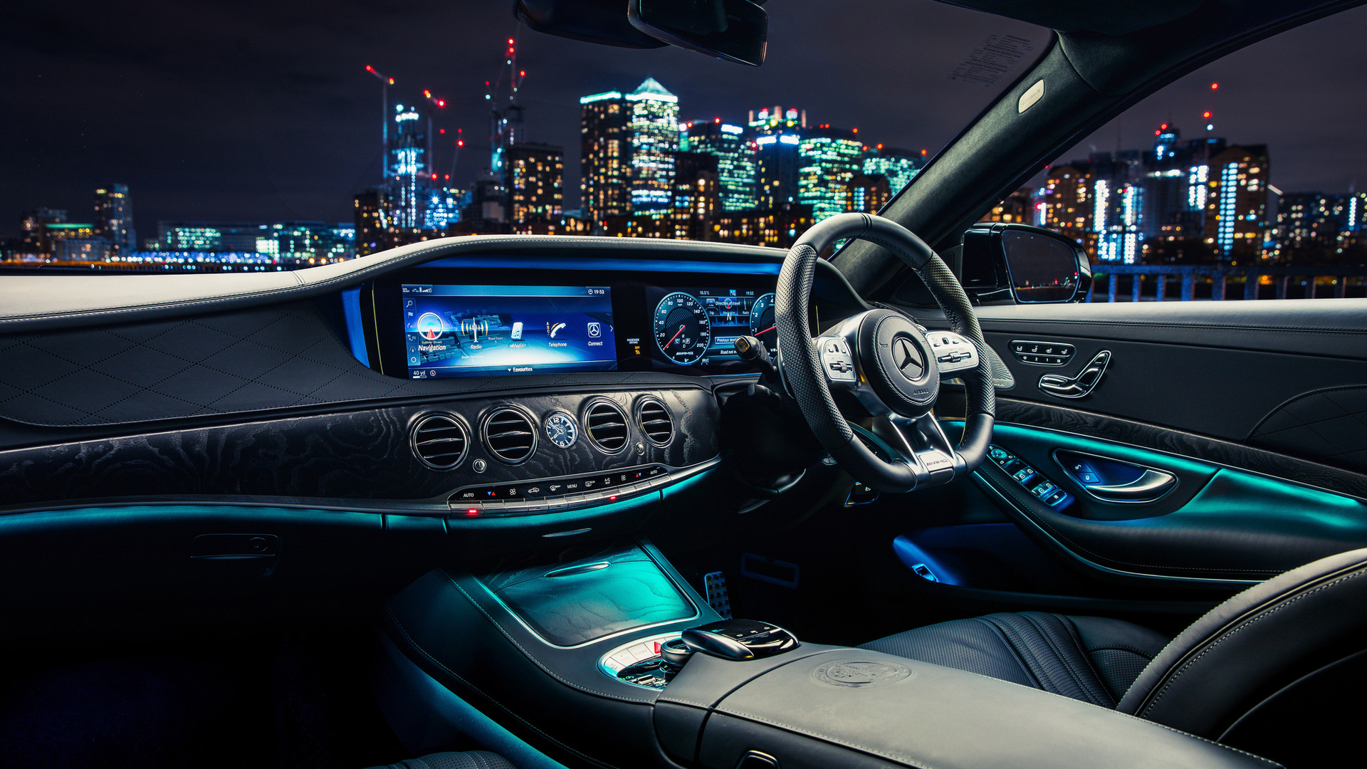 1920x1080 Mercedes AMG S 63 4MATIC Interior Laptop Full HD ...