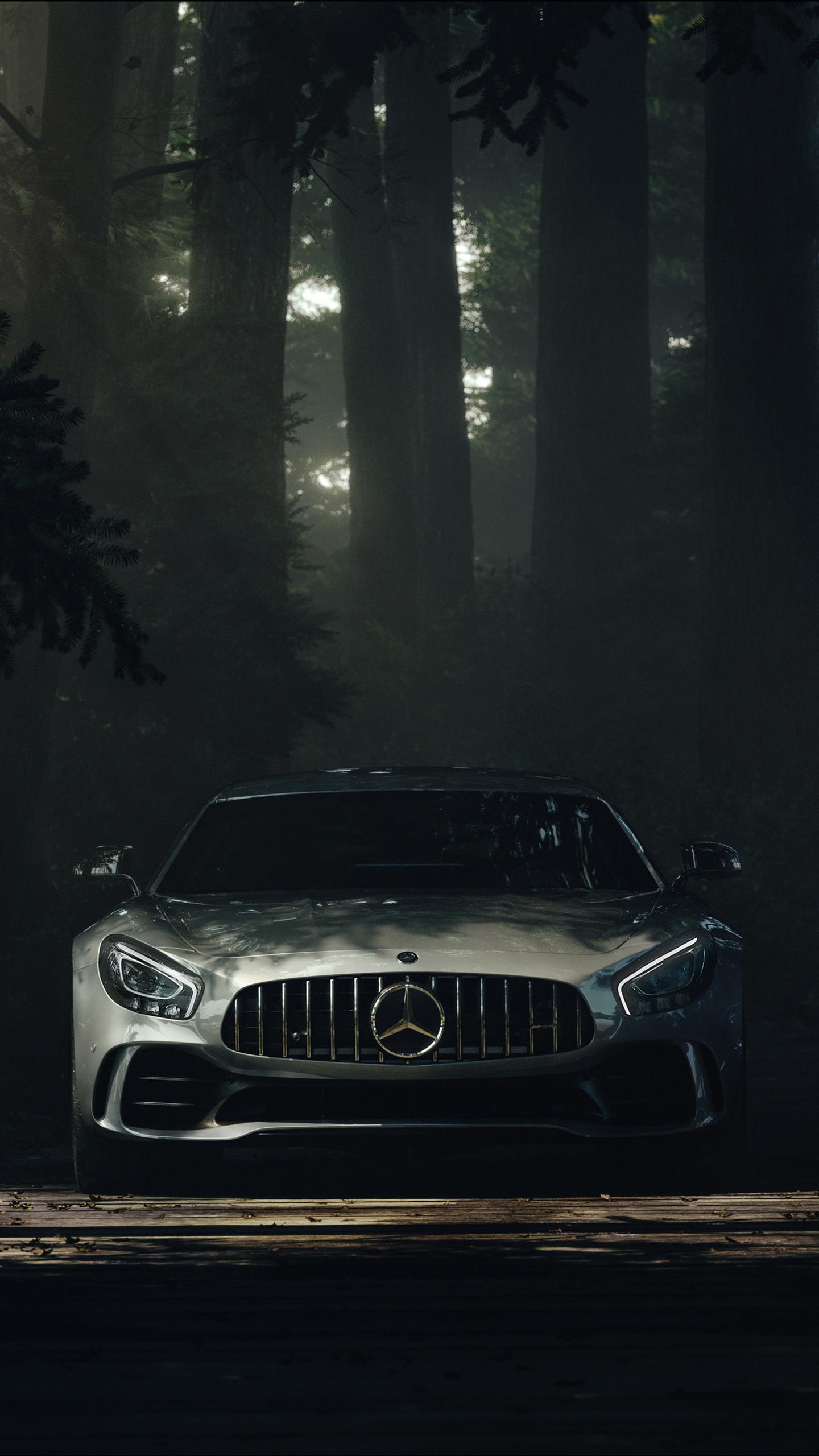 1440x2560 Mercedes Benz Amg GT Forest Samsung Galaxy S6,S7 ...