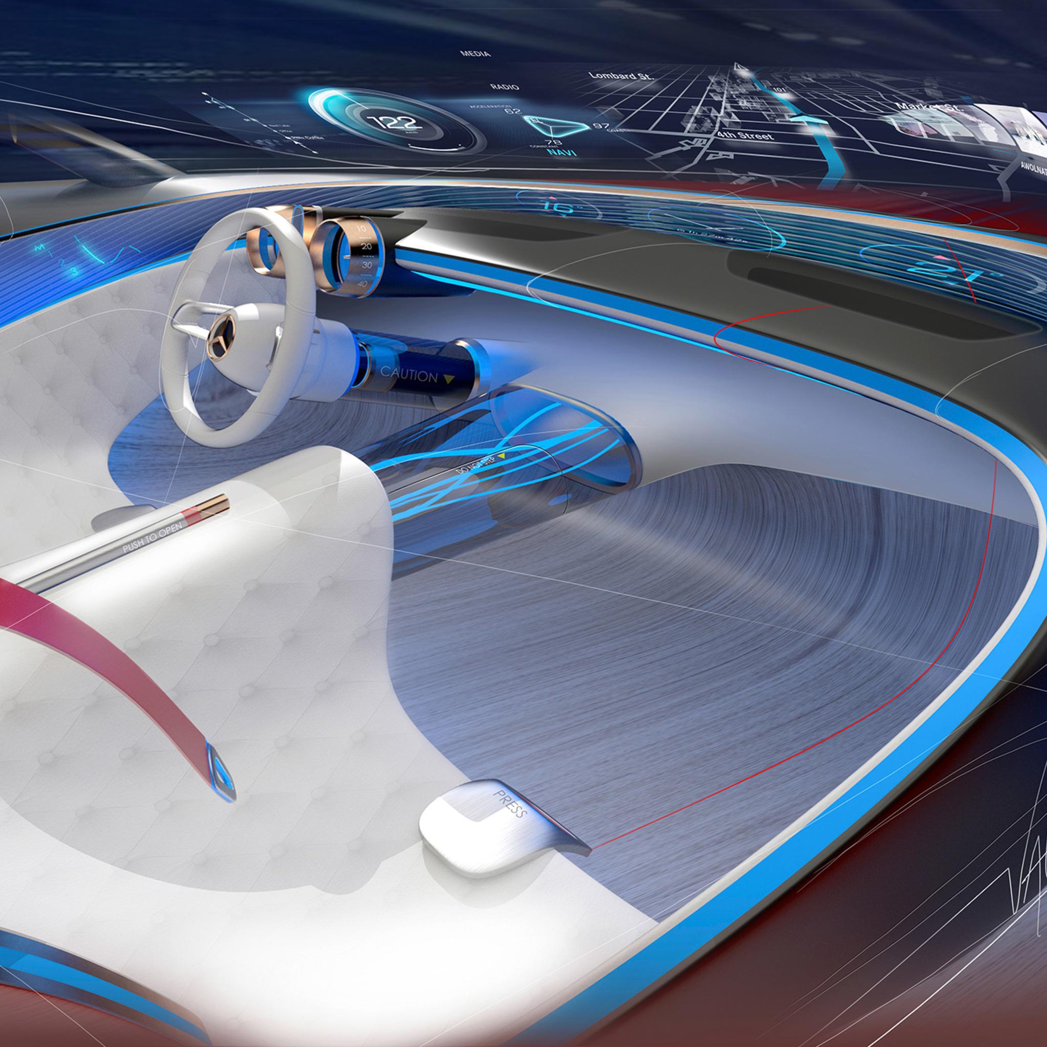 Maybach Car Wallpaper: 2048x2048 Mercedes Maybach Vision 6 Interior Ipad Air HD
