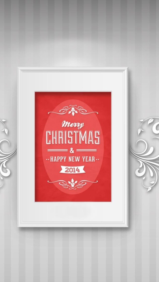 640x1136 Merry Christmas Happy New Year iPhone 5,5c,5S,SE