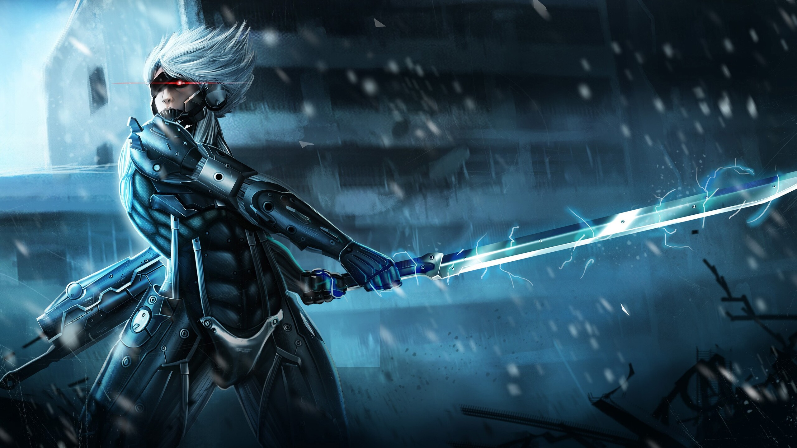 42 Hd Raiden Wallpaper On Wallpapersafari: 2560x1440 Metal Gear Rising Raiden 1440P Resolution HD 4k