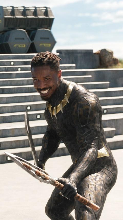 480x854 Michael B Jordan As Erik Killmonger In Black Panther 2018