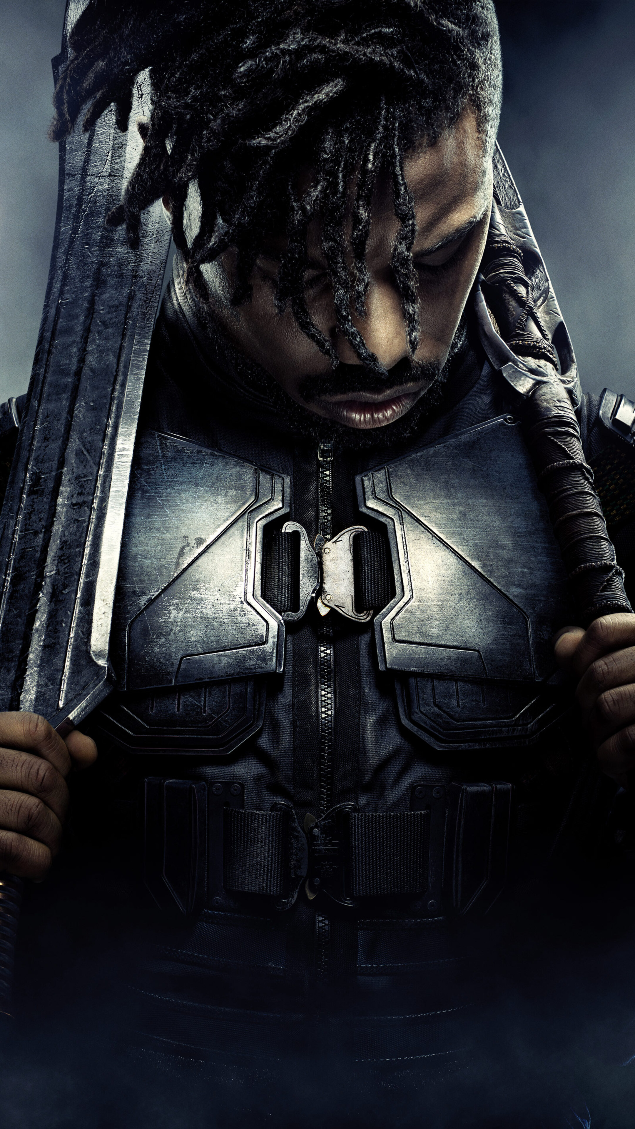 2160x3840 Michael B Jordan Black Panther Poster 4k 5k Sony Xperia X