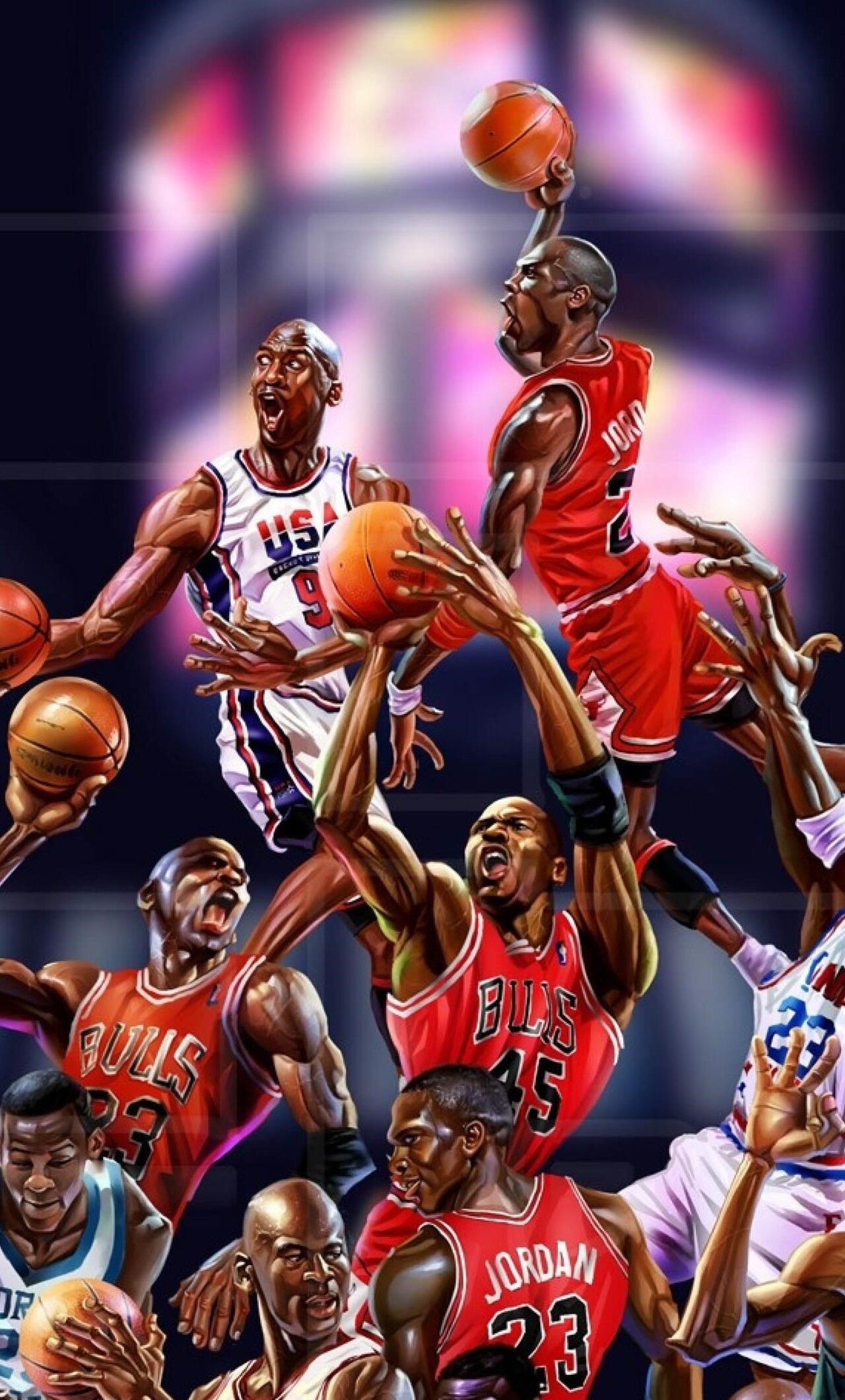 1280x2120 Michael Jordan Art Iphone 6 Hd 4k Wallpapers Images Backgrounds Photos And Pictures