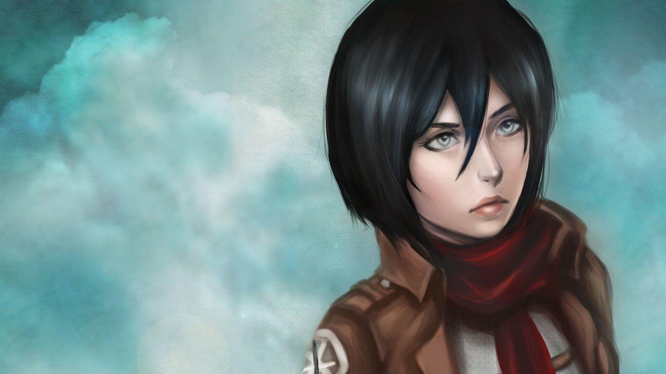 1366x768 Mikasa Ackerman Anime Girl 1366x768 Resolution Hd 4k