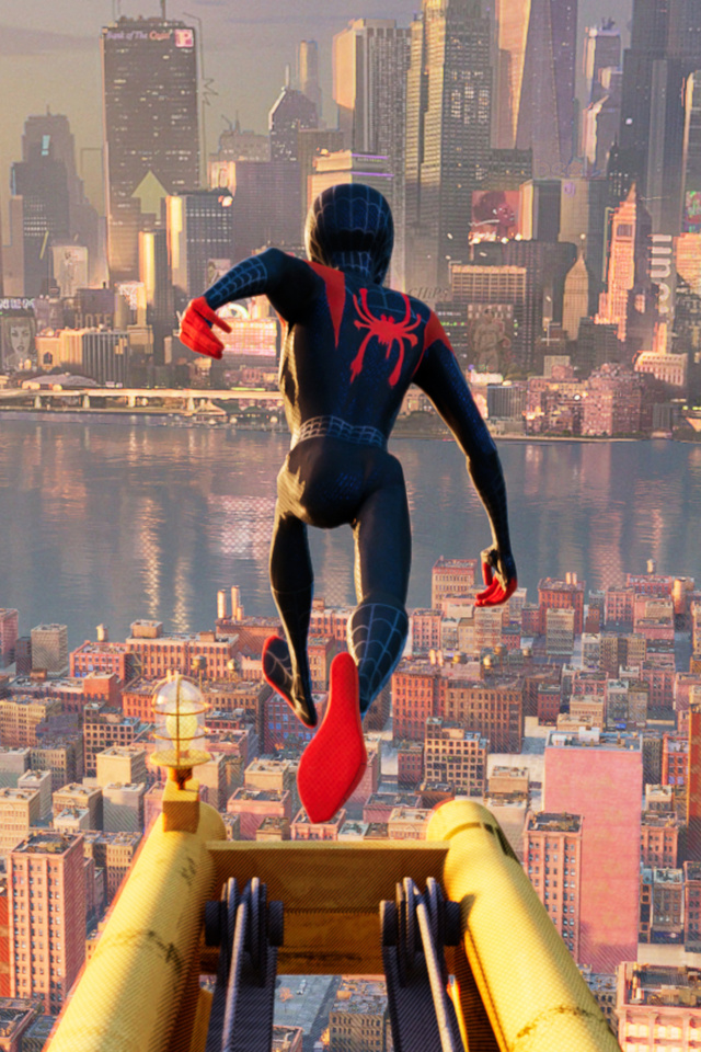 640x960 Miles Morales In Spider Man Into The Spider Verse 2018 Iphone 4 Iphone 4s Hd 4k Wallpapers Images Backgrounds Photos And Pictures