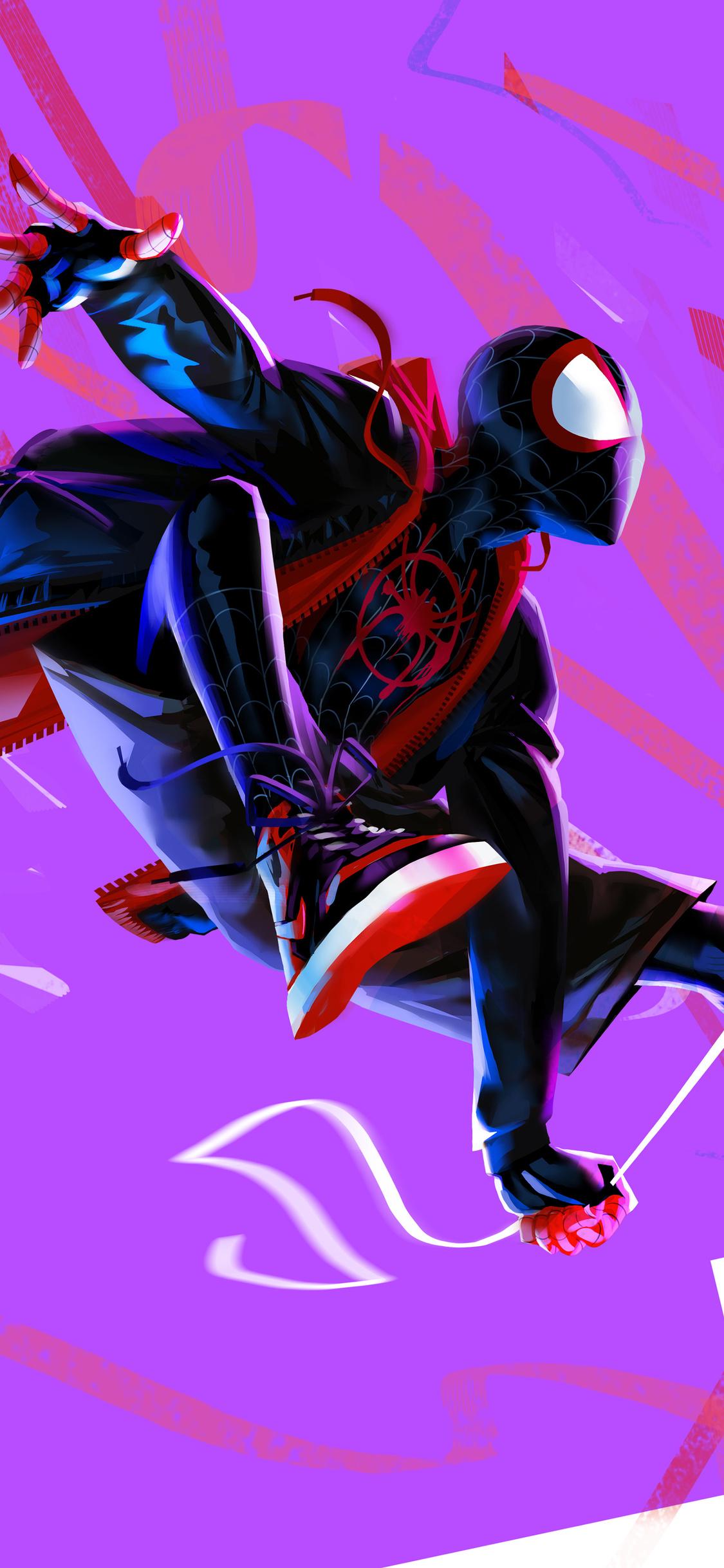 Spiderman Spider Verse Iphone X Wallpaper Wallpaper Iphone
