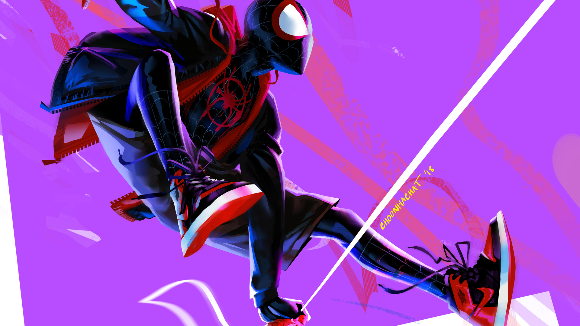 1920x1080 Miles Morales In Spider Man Into The Spider Verse 4k