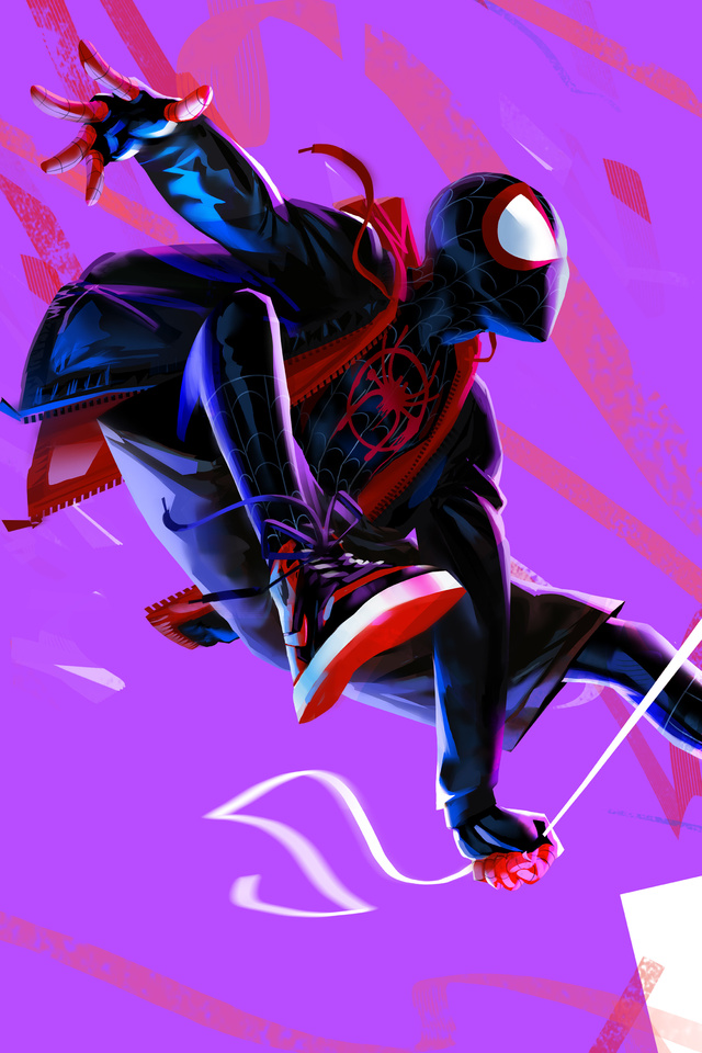 640x960 Miles Morales In Spider Man Into The Spider Verse 4k Artwork
