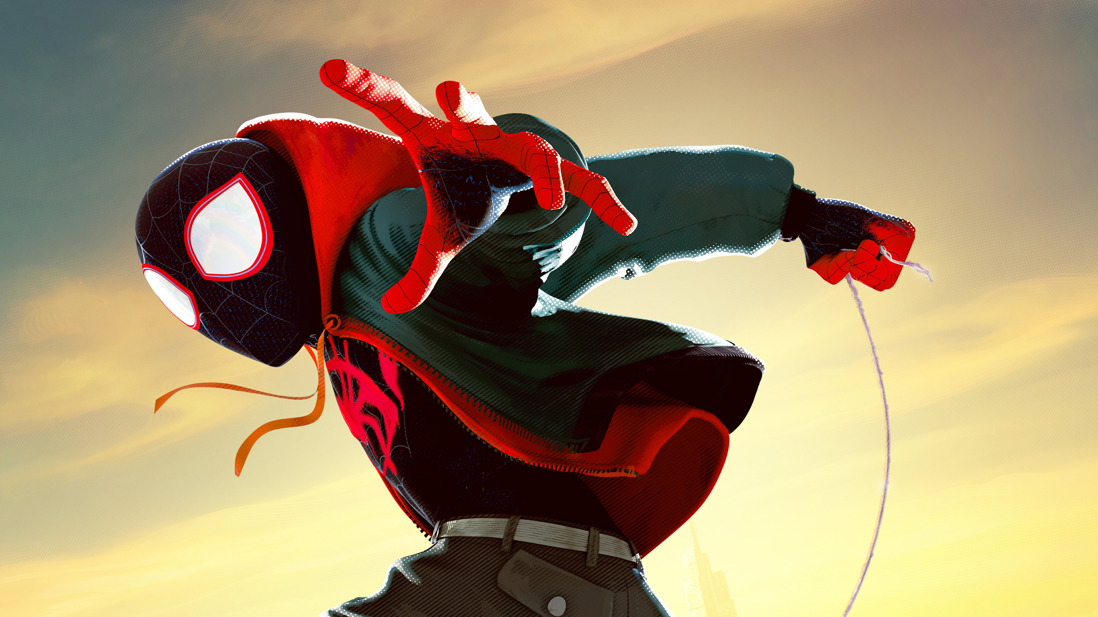 Into The Spider Verse X Wallpaper Iwallpaper: 3840x2160 Miles Morales In Spider Man Into The Spider