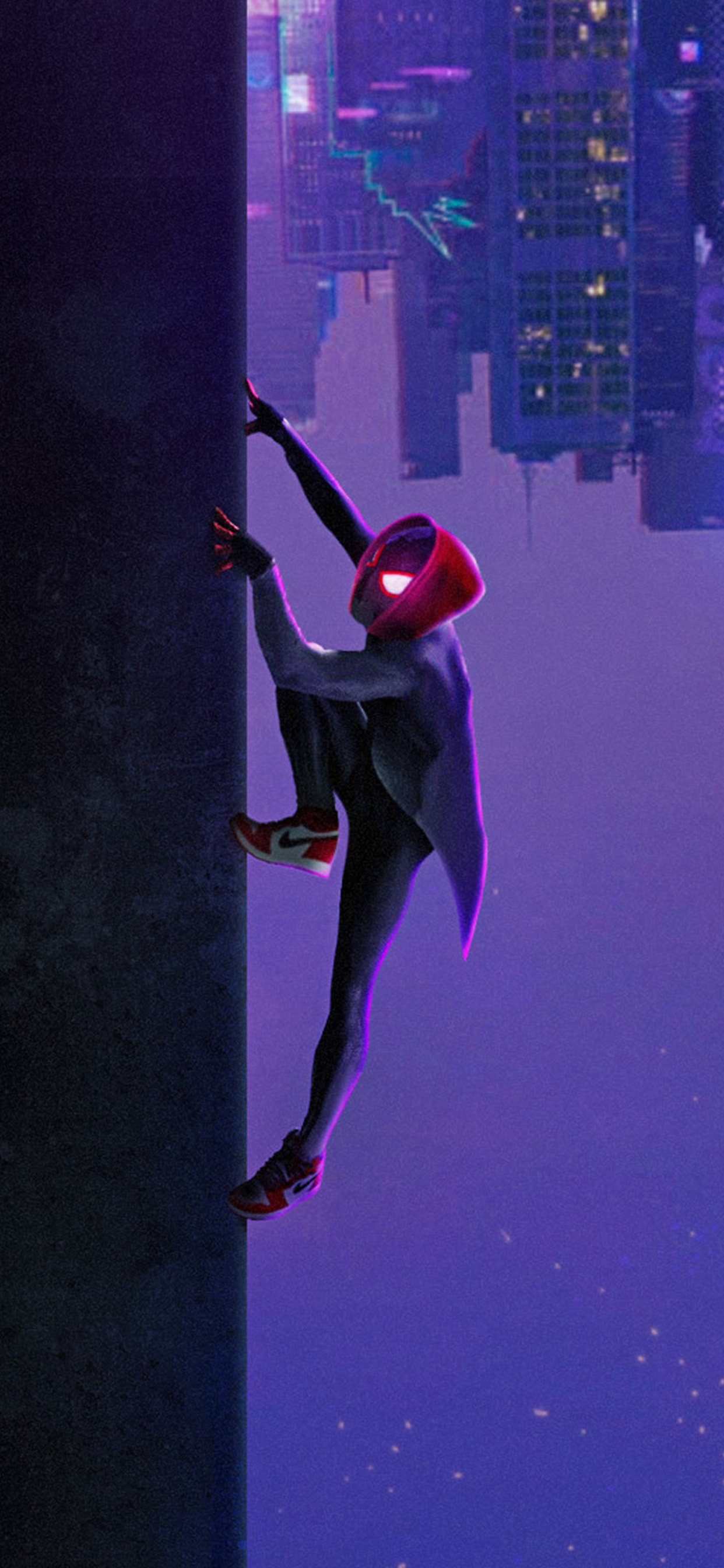 Spider Man Into The Spider Verse Iphone Xs Max Wallpaper