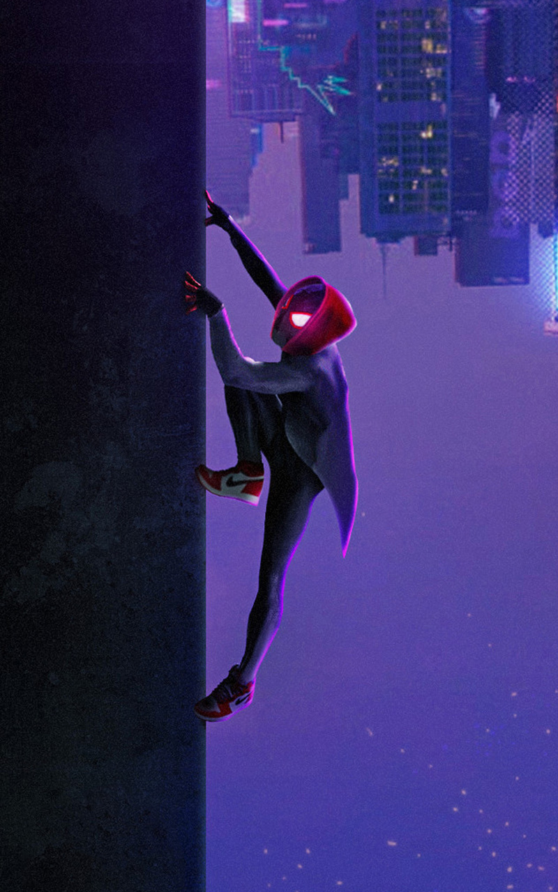 800x1280 Miles Morales In Spider Man Into The Spider Verse Movie Art