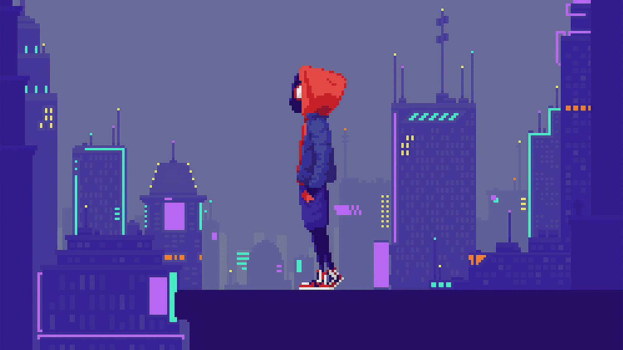 2048x1152 Miles Morales Pixel Art 2048x1152 Resolution Hd 4k