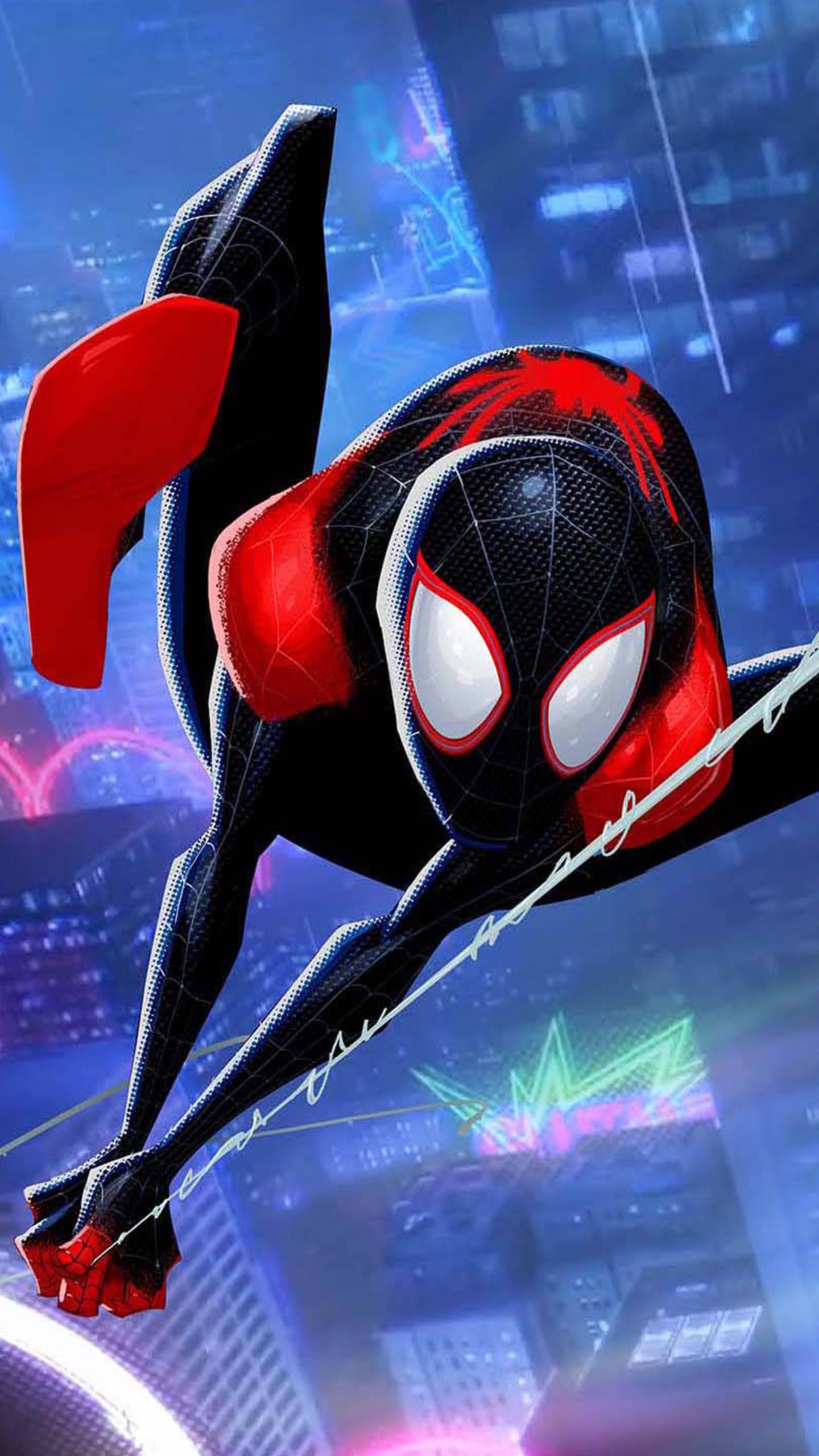 1440x2560 Miles Morales SpiderMan Into The Spider Verse ...