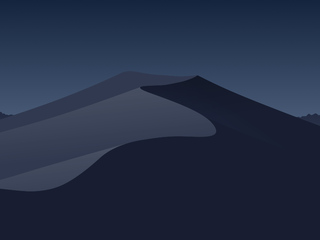 320x240 Minimal Mojave Night Apple Iphoneipod Touchgalaxy