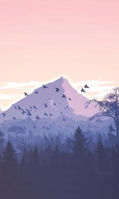 minimalism-birds-mountains-trees-forest-9k.jpg