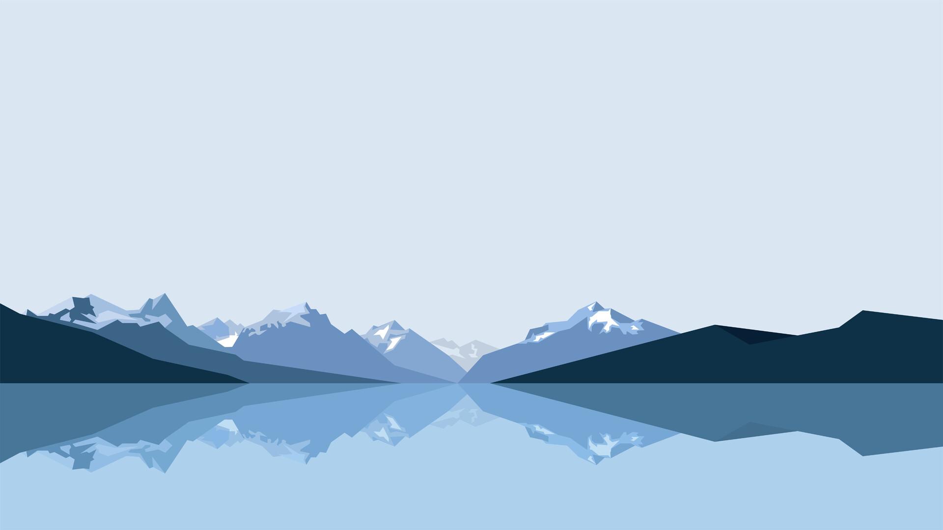 1920x1080 Minimalist Blue Mountains 8k Laptop Full Hd 1080p Hd 4k