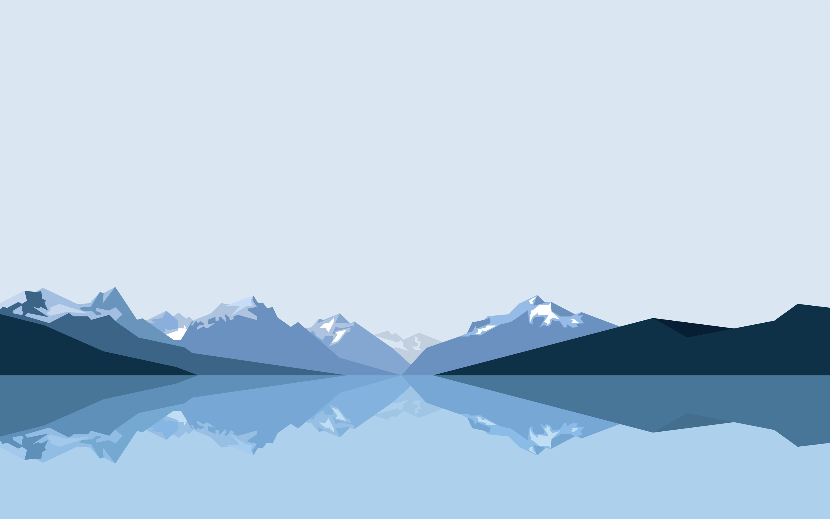 2880x1800 Minimalist Blue Mountains 8k Macbook Pro Retina
