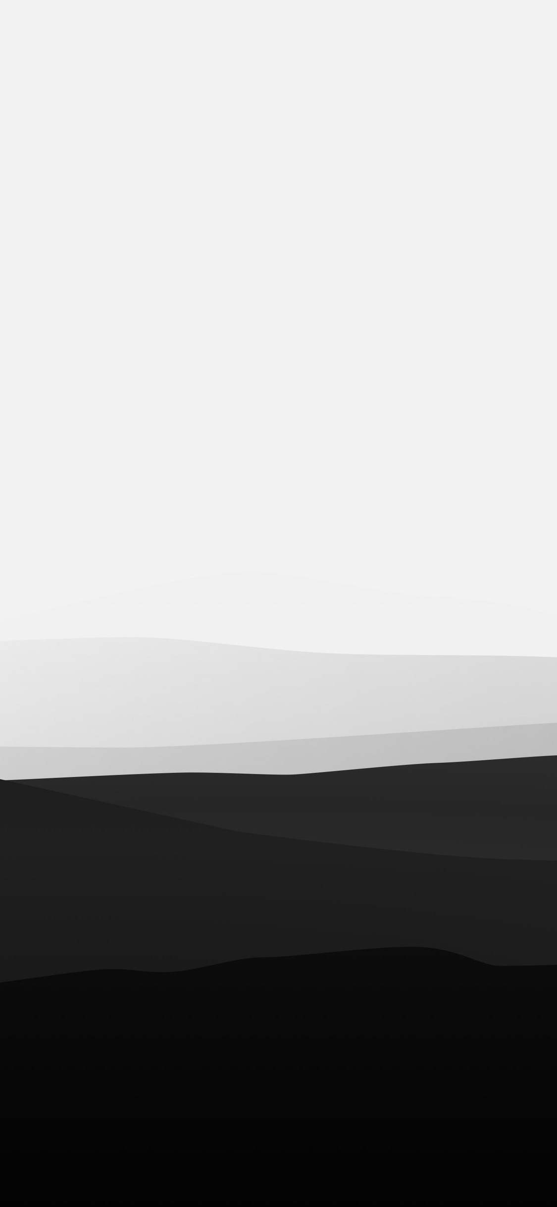 1125x2436 Minimalist Mountains Black And White Iphone Xs Iphone 10
