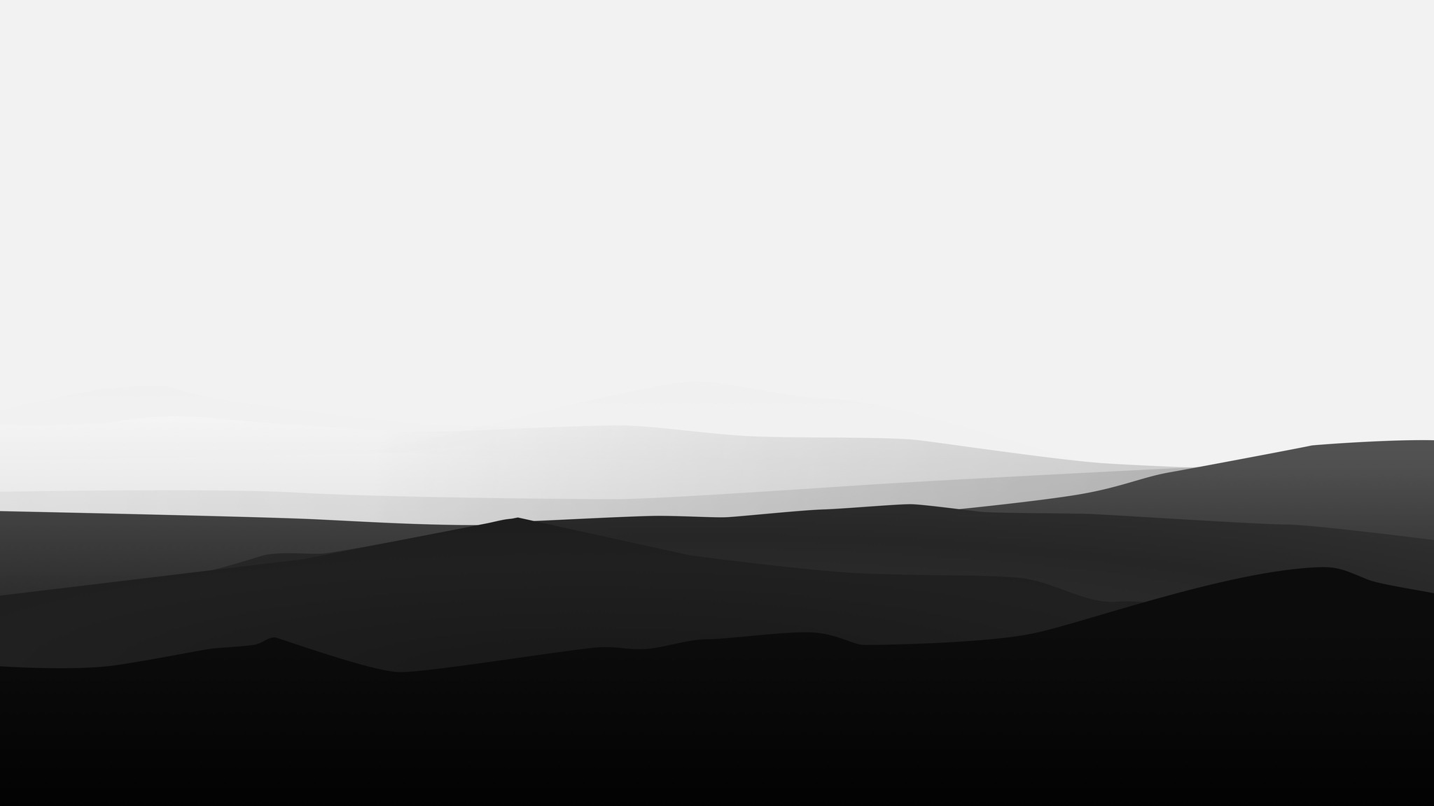 Minimalism Mountain Peak Full Hd Wallpaper: 2048x1152 Minimalist Mountains Black And White 2048x1152