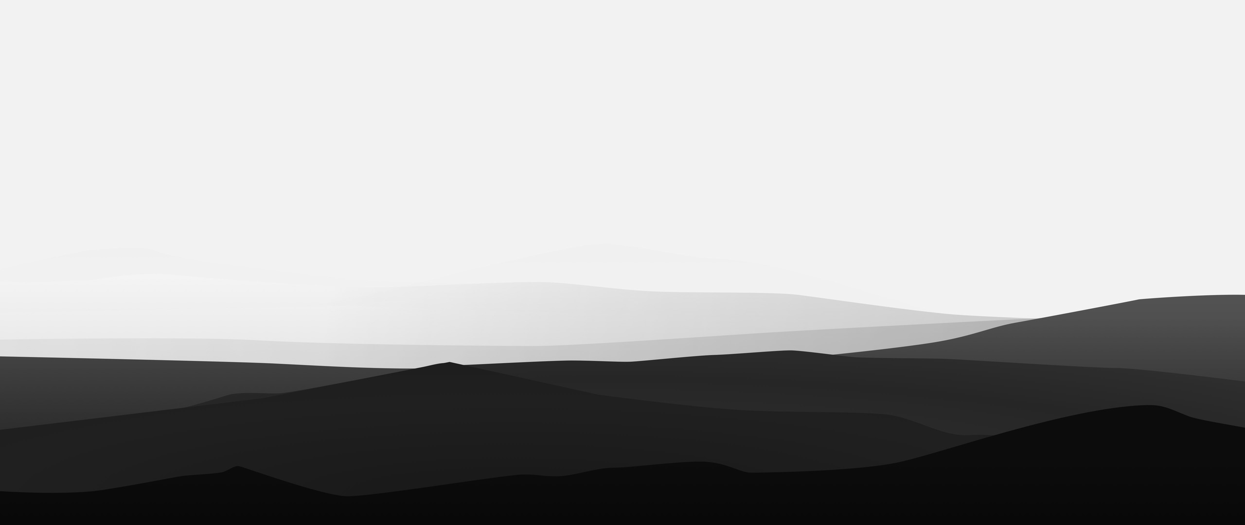 2560x1080 Minimalist Mountains Black And White 2560x1080 ...