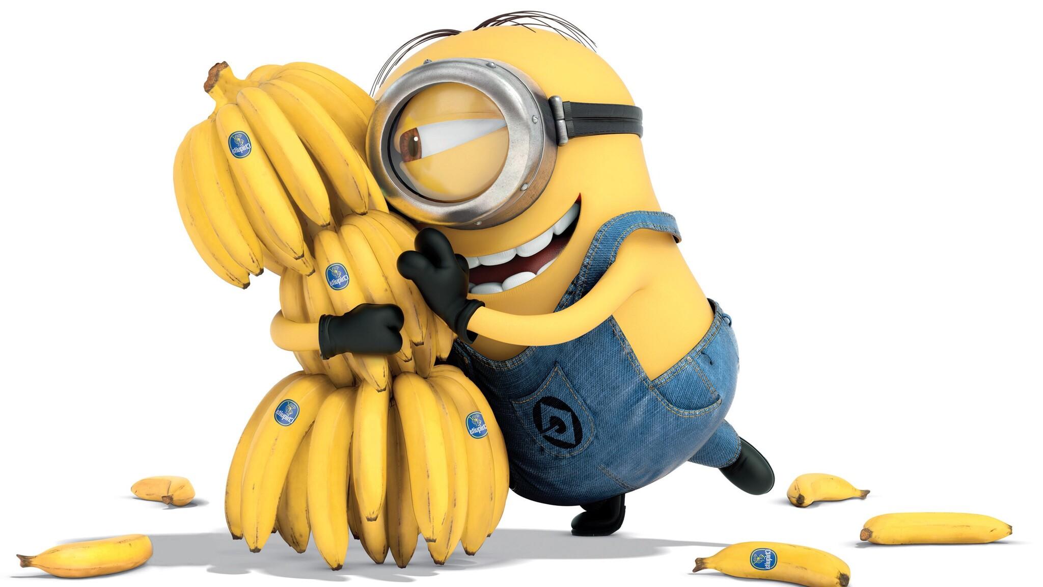 2048x1152 Minion Bananas 2048x1152 Resolution HD 4k