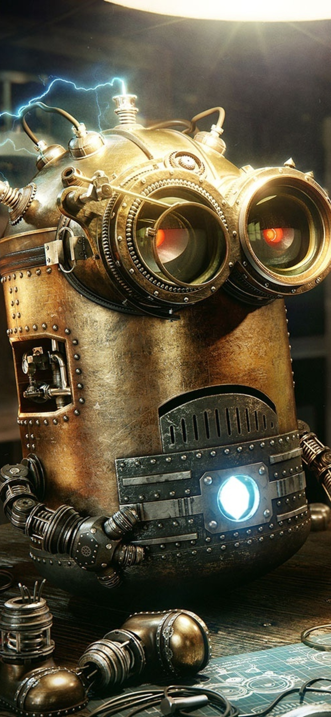 Nice Minions Robot Steampunk (Iphone XS,Iphone 10,Iphone X)