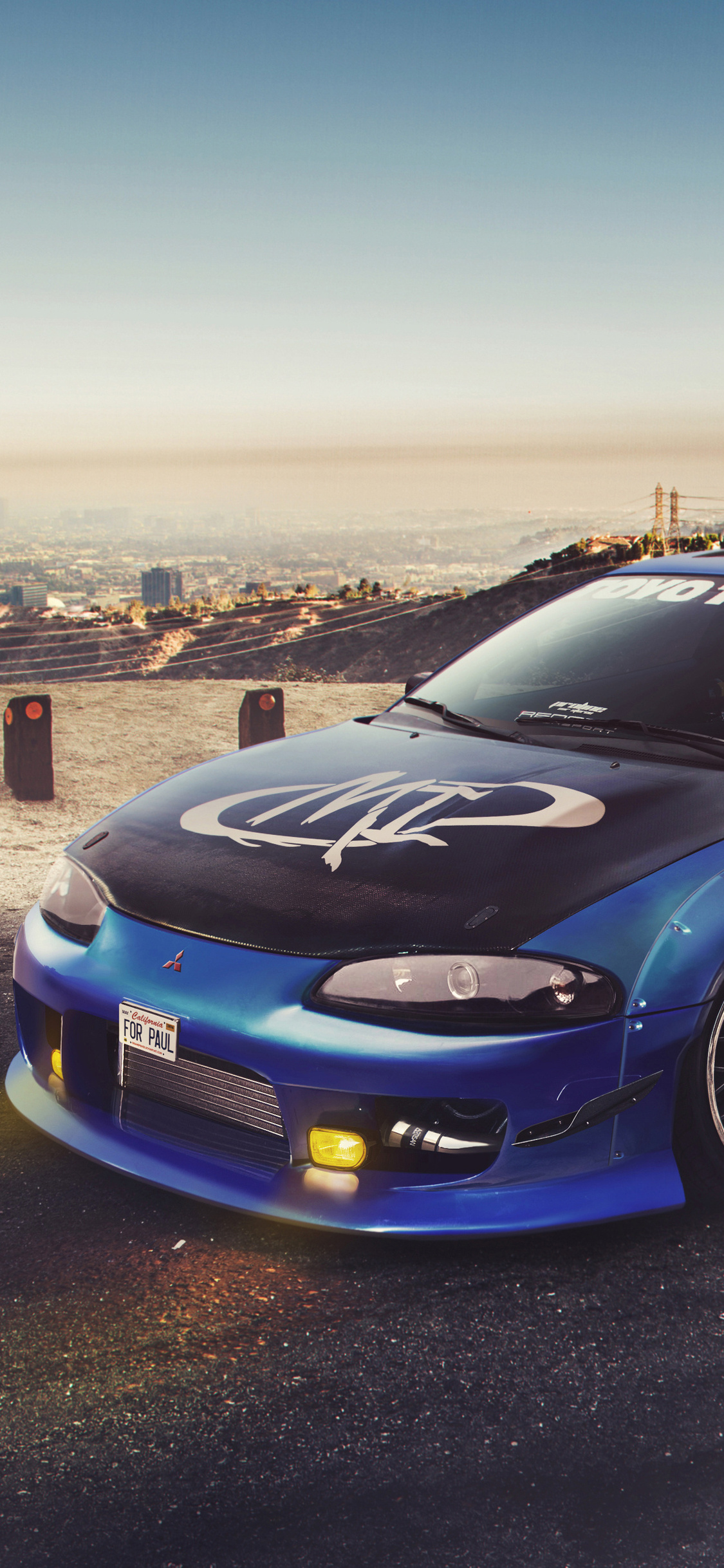 1125x2436 Mitsubishi Eclipse Tribute For Paul Walker Iphone Xs
