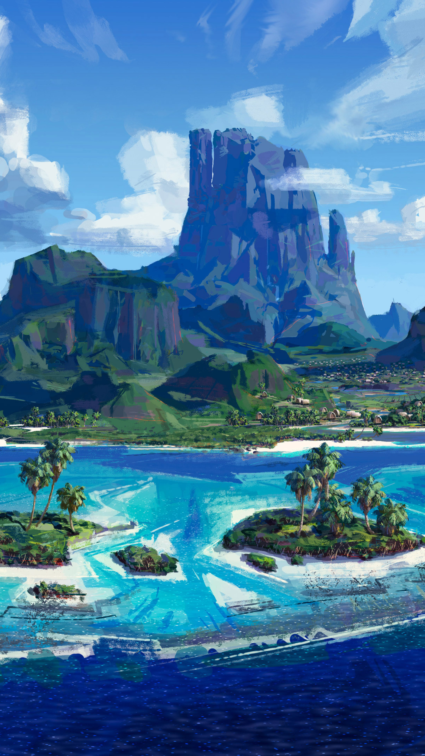 1440x2560 moana island samsung galaxy s6 s7 google pixel - Moana download hd ...