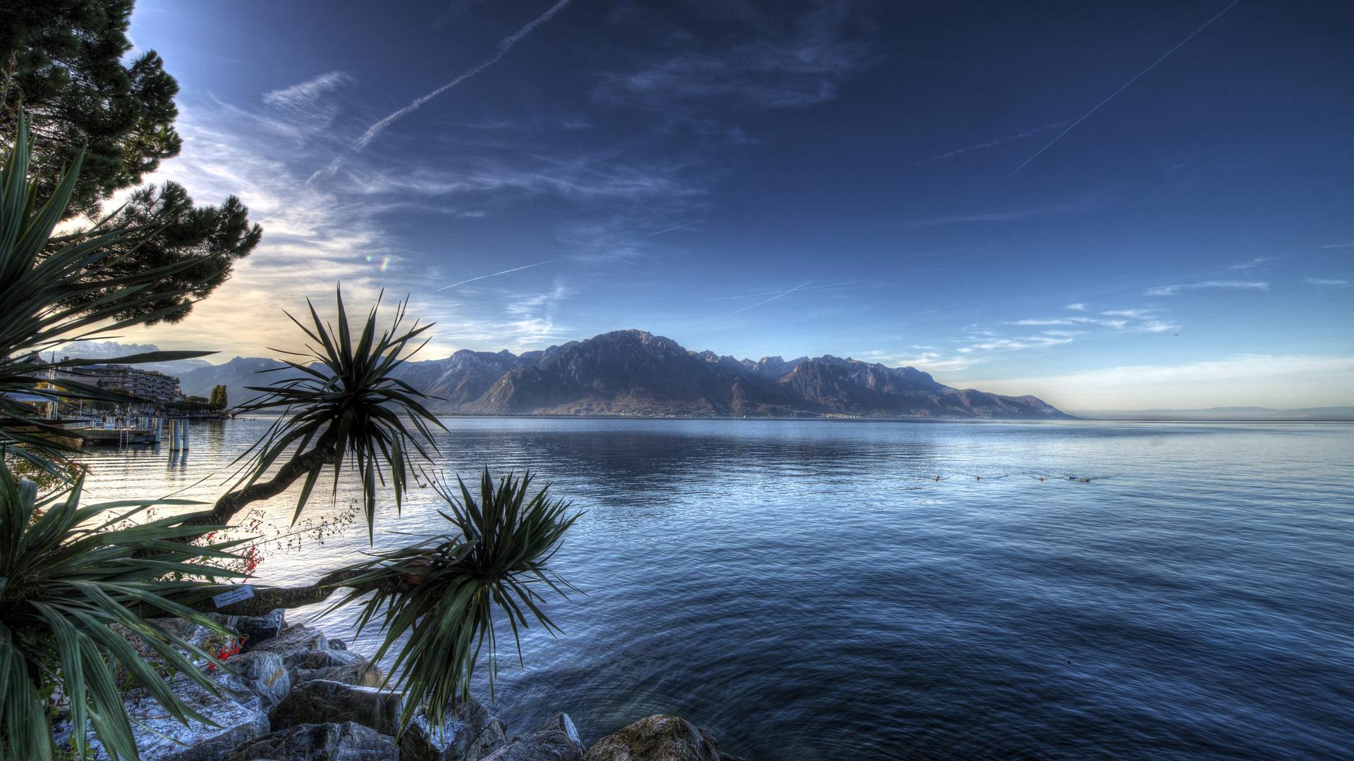 1920x1080 Montreux Lake Switzerland 4k Laptop Full HD ...