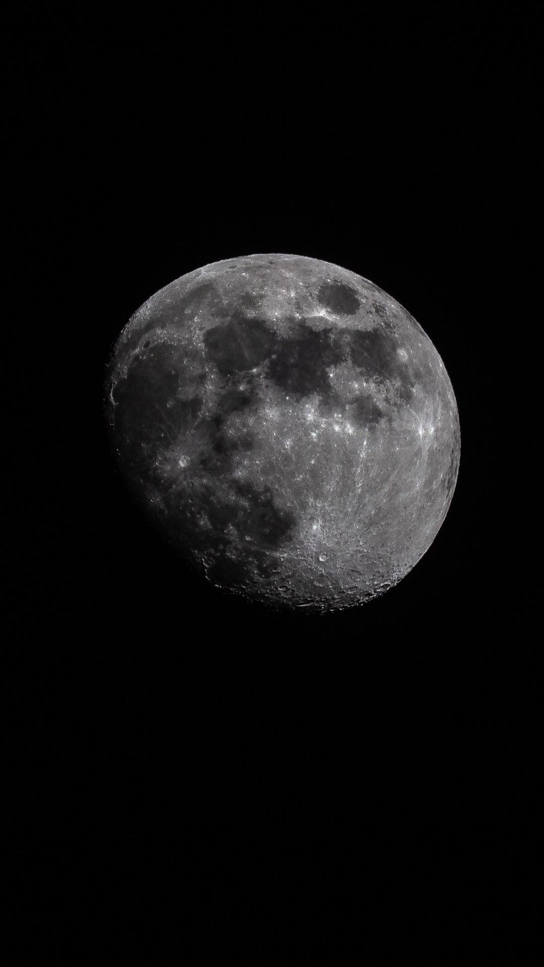 1080x1920 Moon Astrophotography Iphone 7 6s 6 Plus Pixel xl e