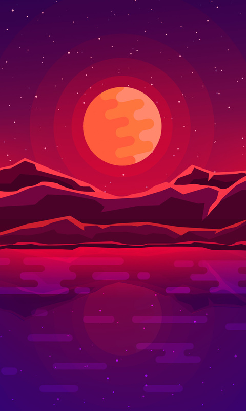 moon-rays-red-space-sky-abstract-mountains-4c.jpg