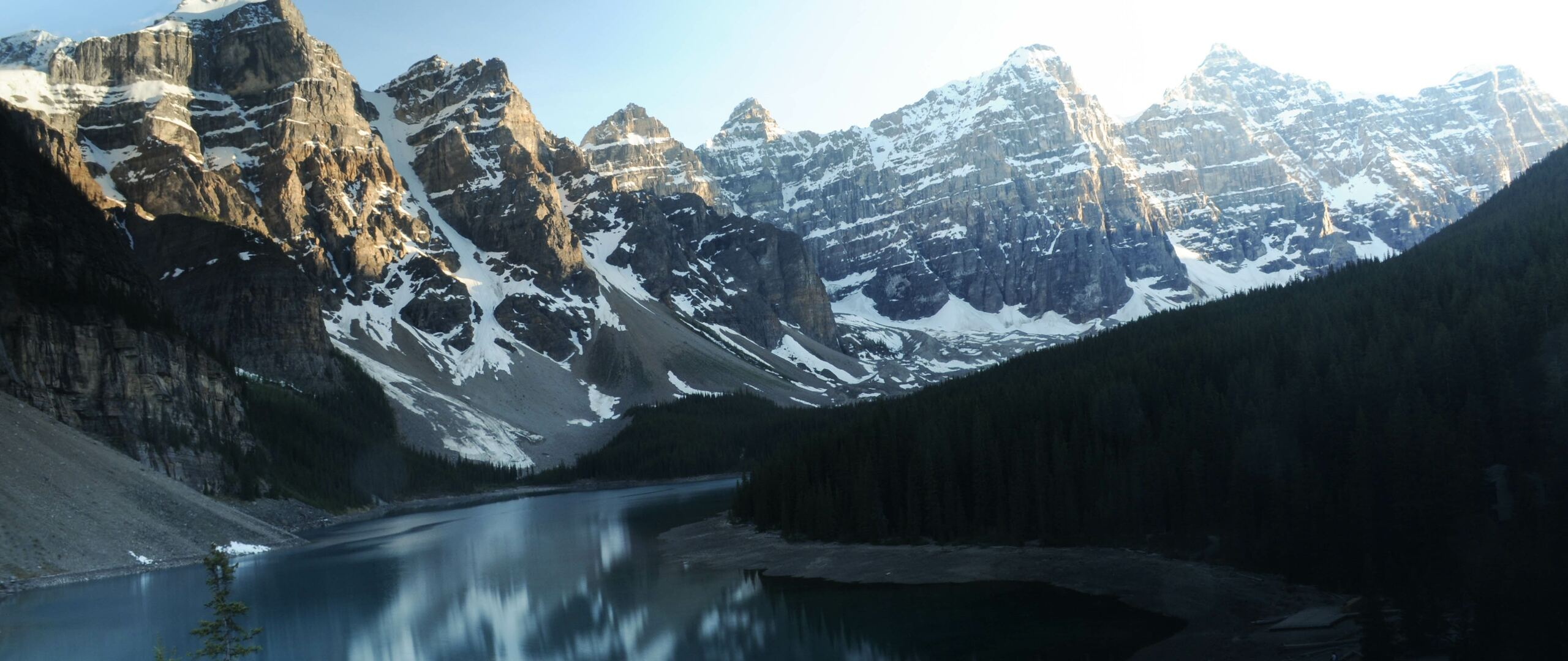 2560x1080 Moraine Lake Canada Reflections 5k 2560x1080
