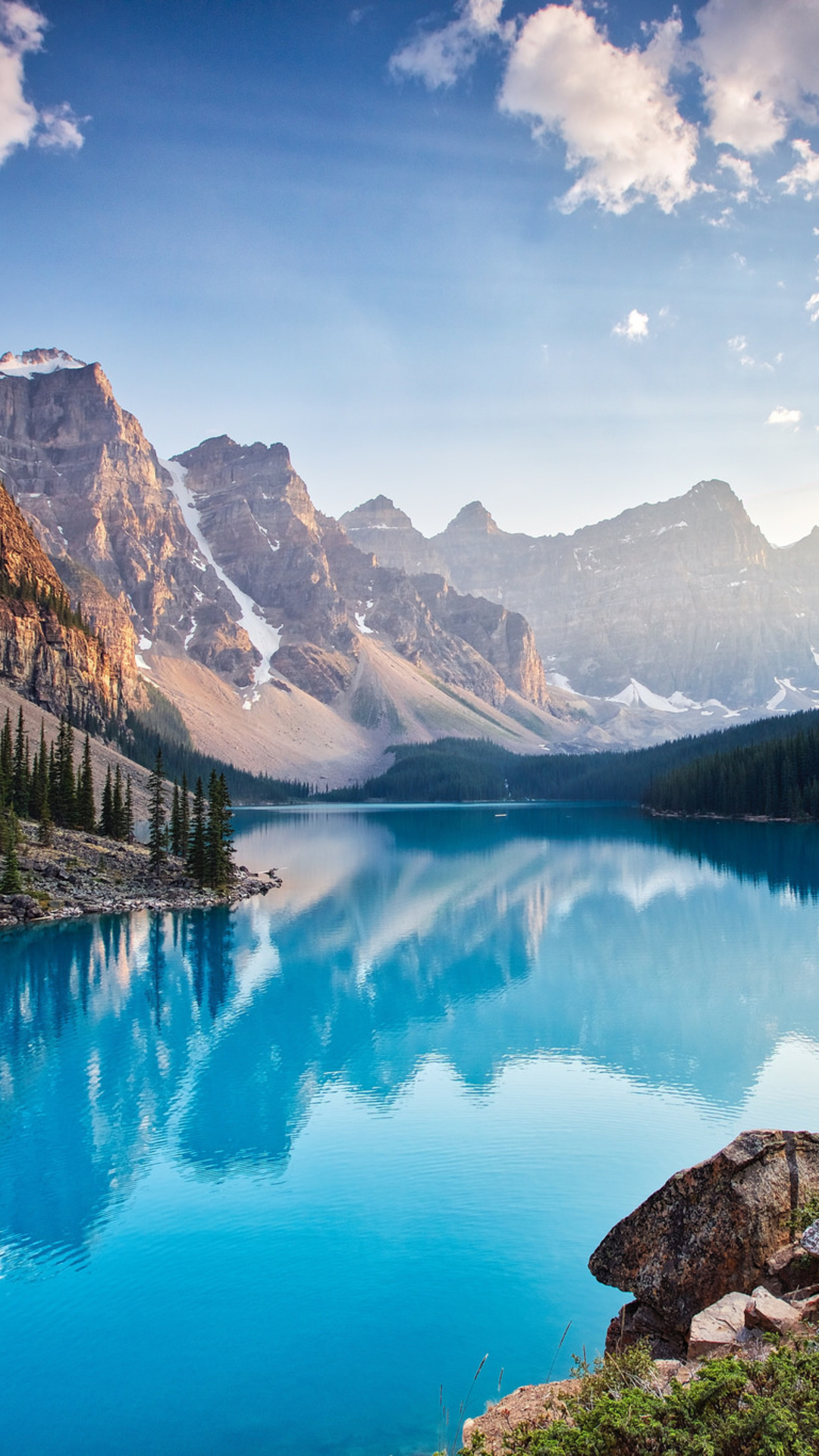 1080x1920 moraine lake south channel iphone 7 6s 6 plus - Nature wallpaper 4k iphone ...