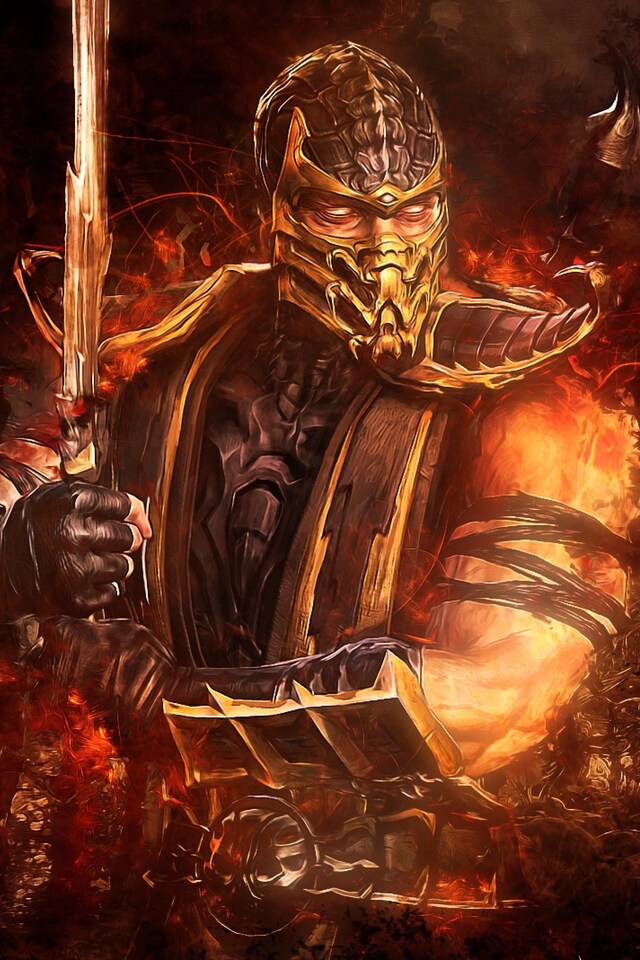 640x960 Mortal Kombat Scorpion Iphone 4 Iphone 4s Hd 4k Wallpapers